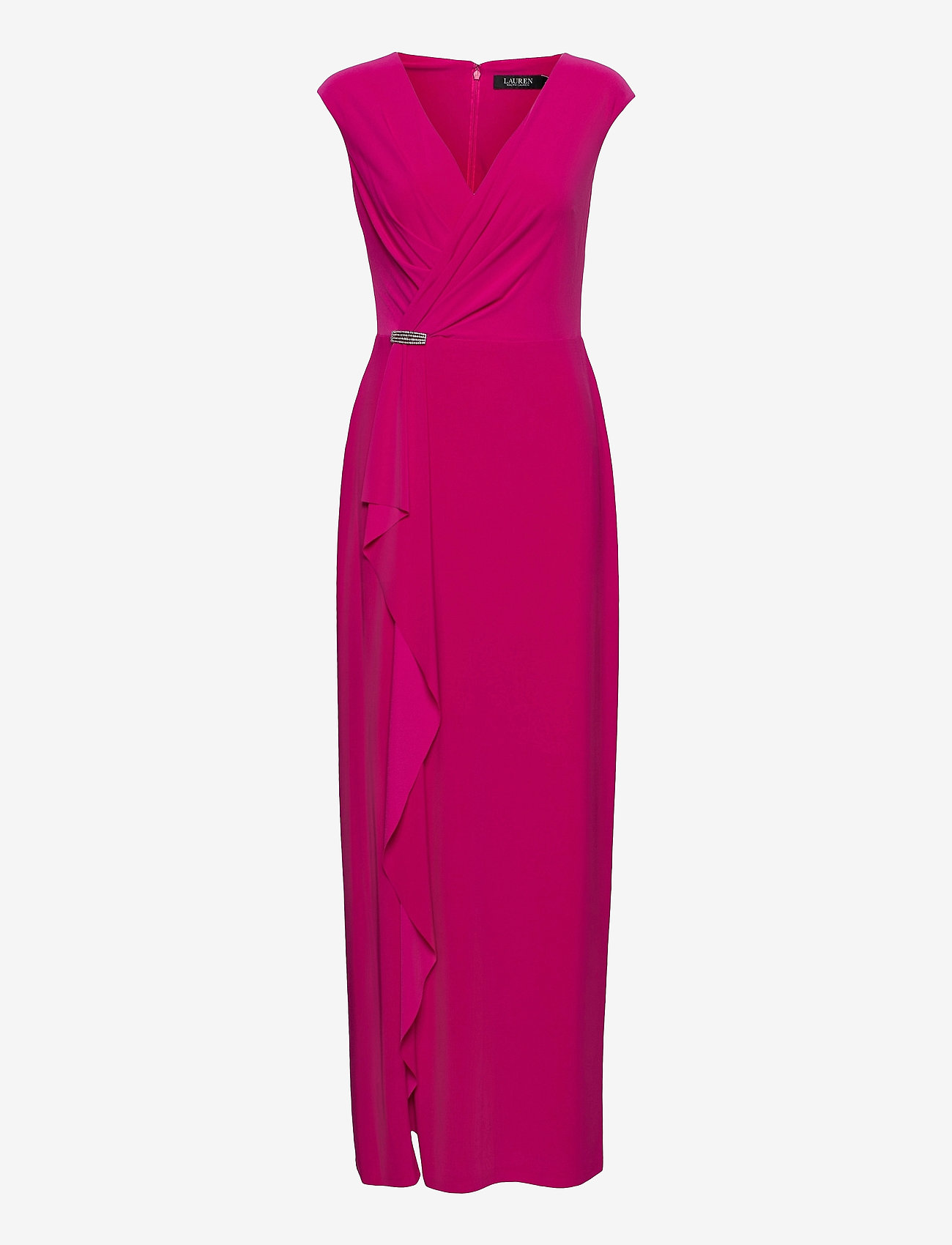 Lauren Ralph Lauren - Ruffle-Trim Jersey Gown - aruba pink - 1