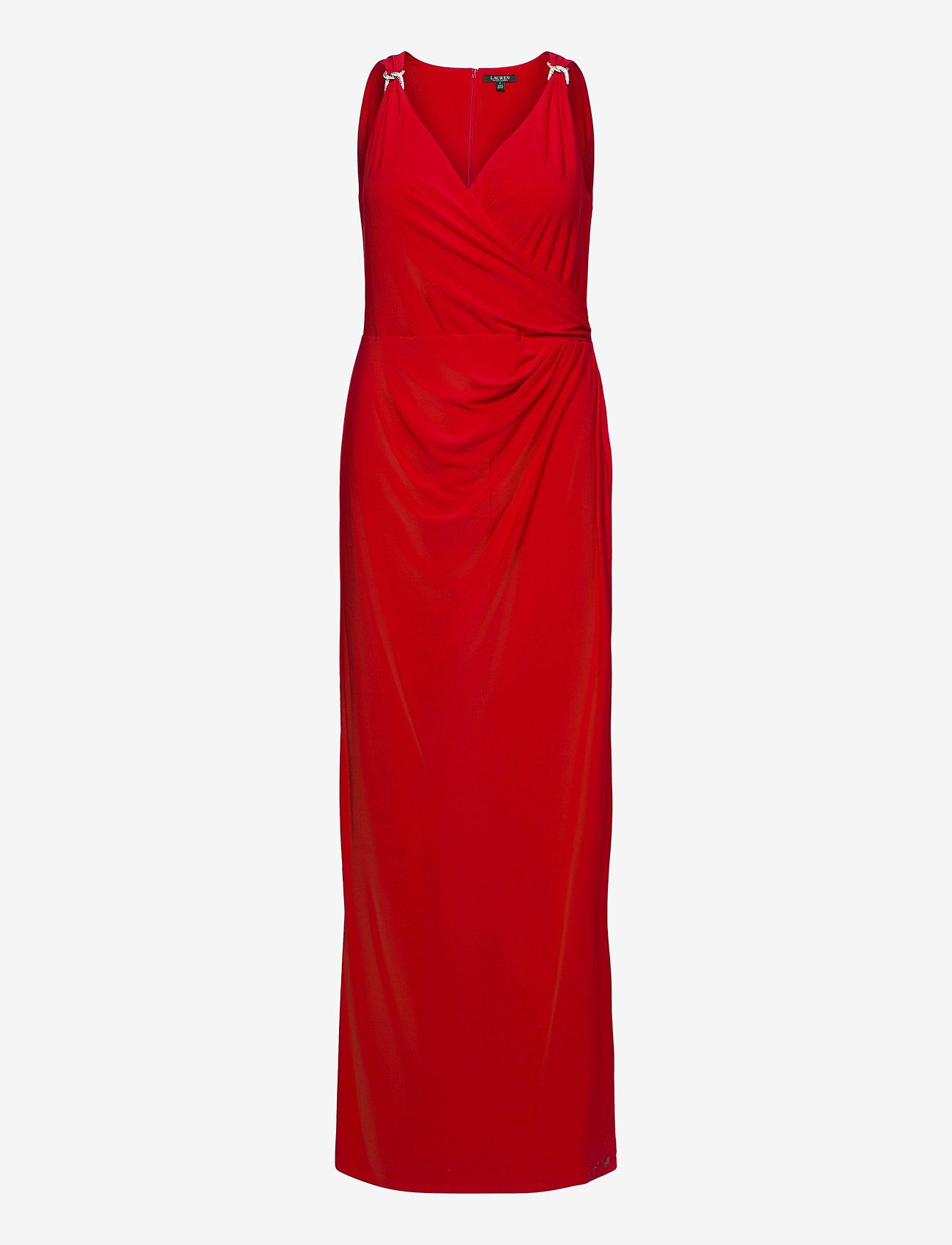 Lauren Ralph Lauren - Jersey Sleeveless Dress - aftenkjoler - orient red - 1