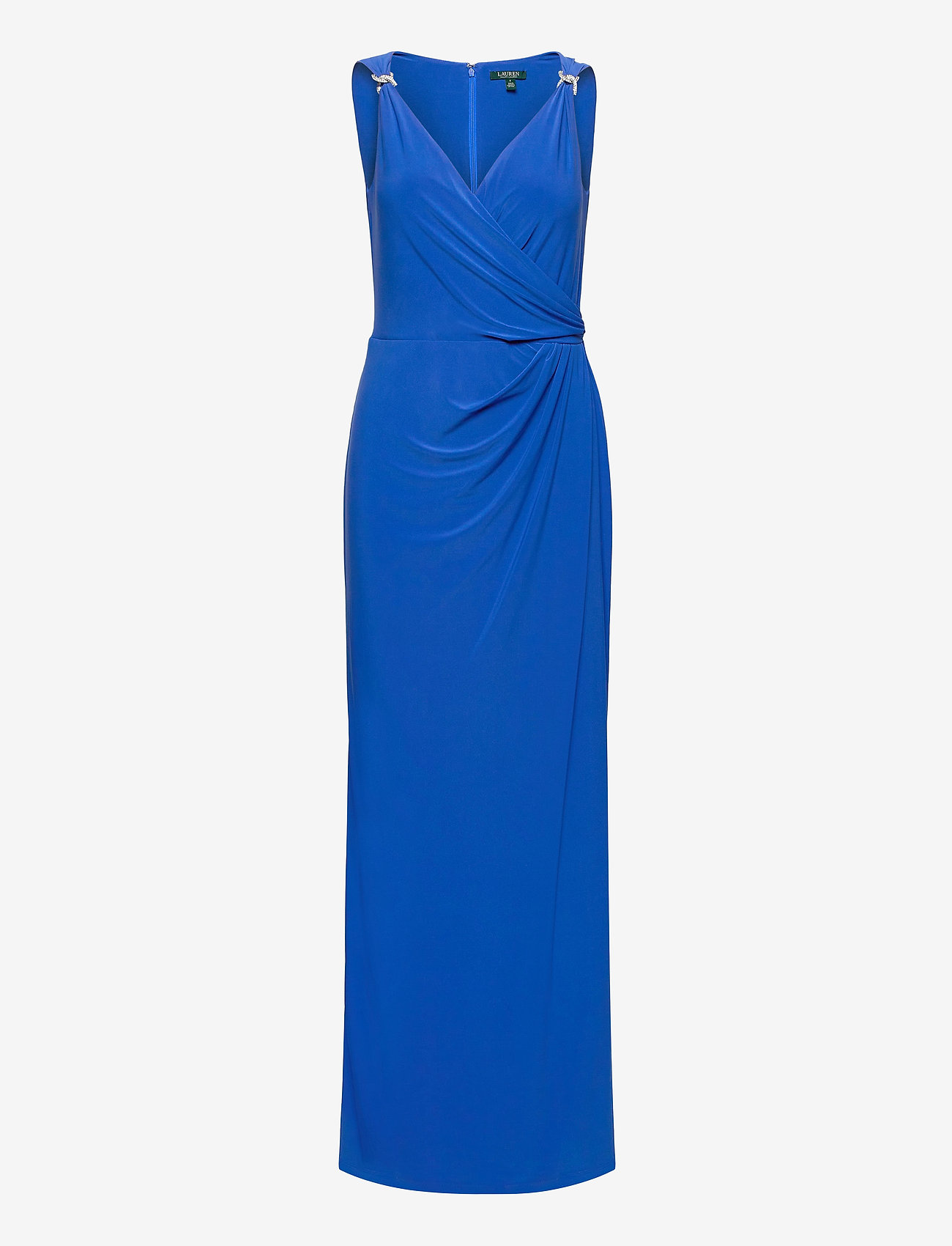 Lauren Ralph Lauren - Jersey Sleeveless Dress - aftenkjoler - portuguese blue - 1