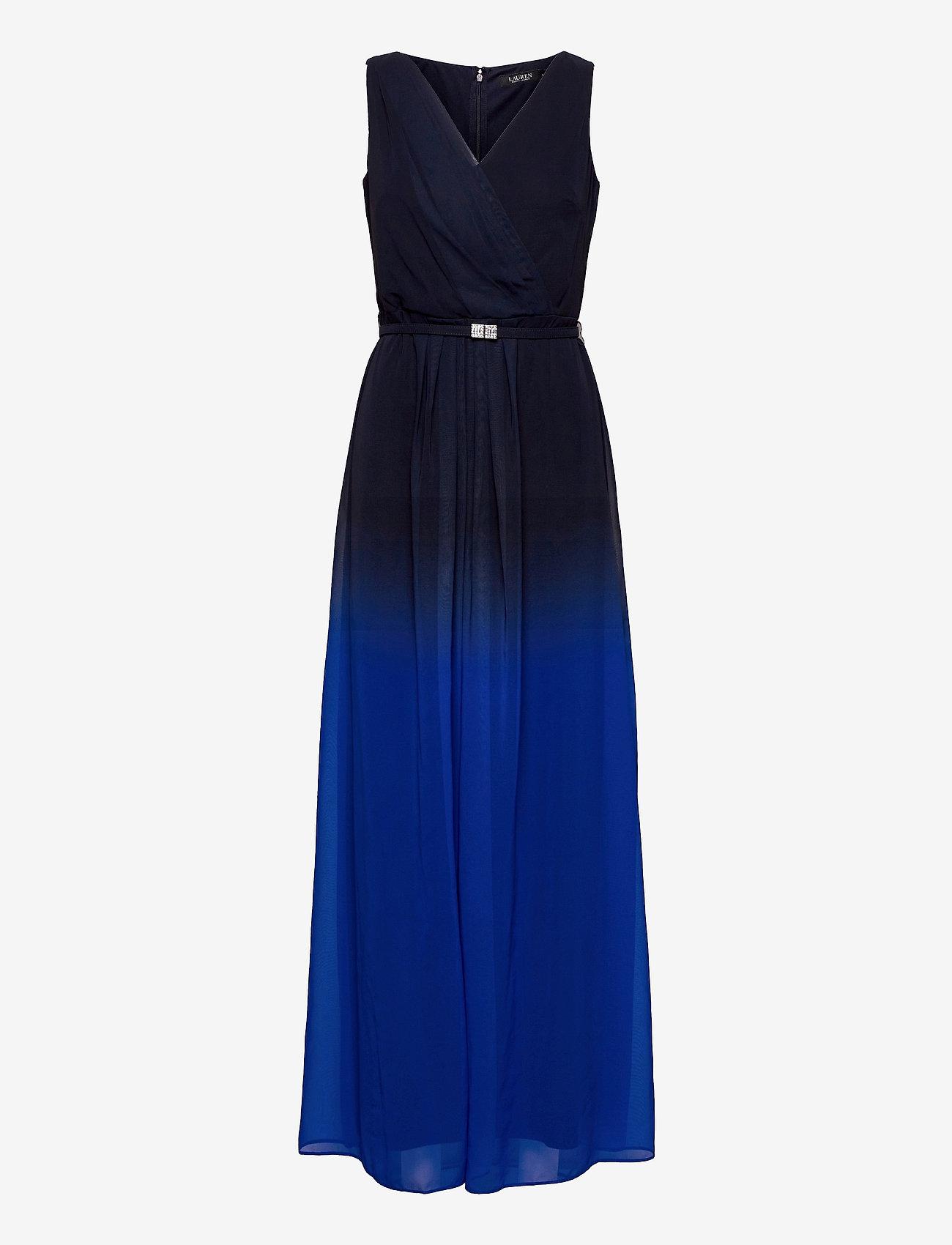 Lauren Ralph Lauren - Ombré Georgette Sleeveless Gown - kveldskjoler - sapphire star/lh - 0
