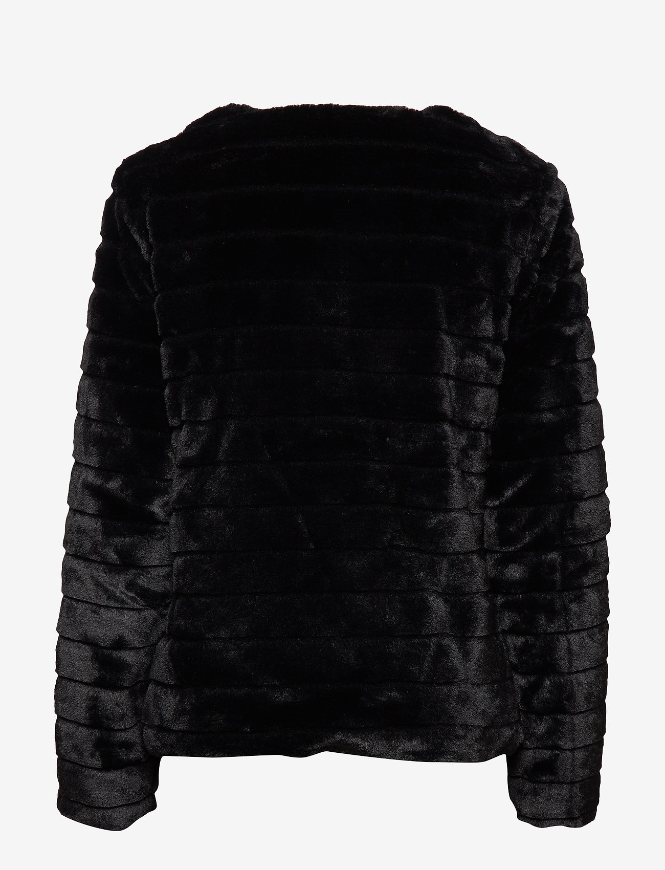 Lauren Ralph Lauren - Faux-Fur Chubby Coat - sztuczne futro - black w/ thin sta - 1
