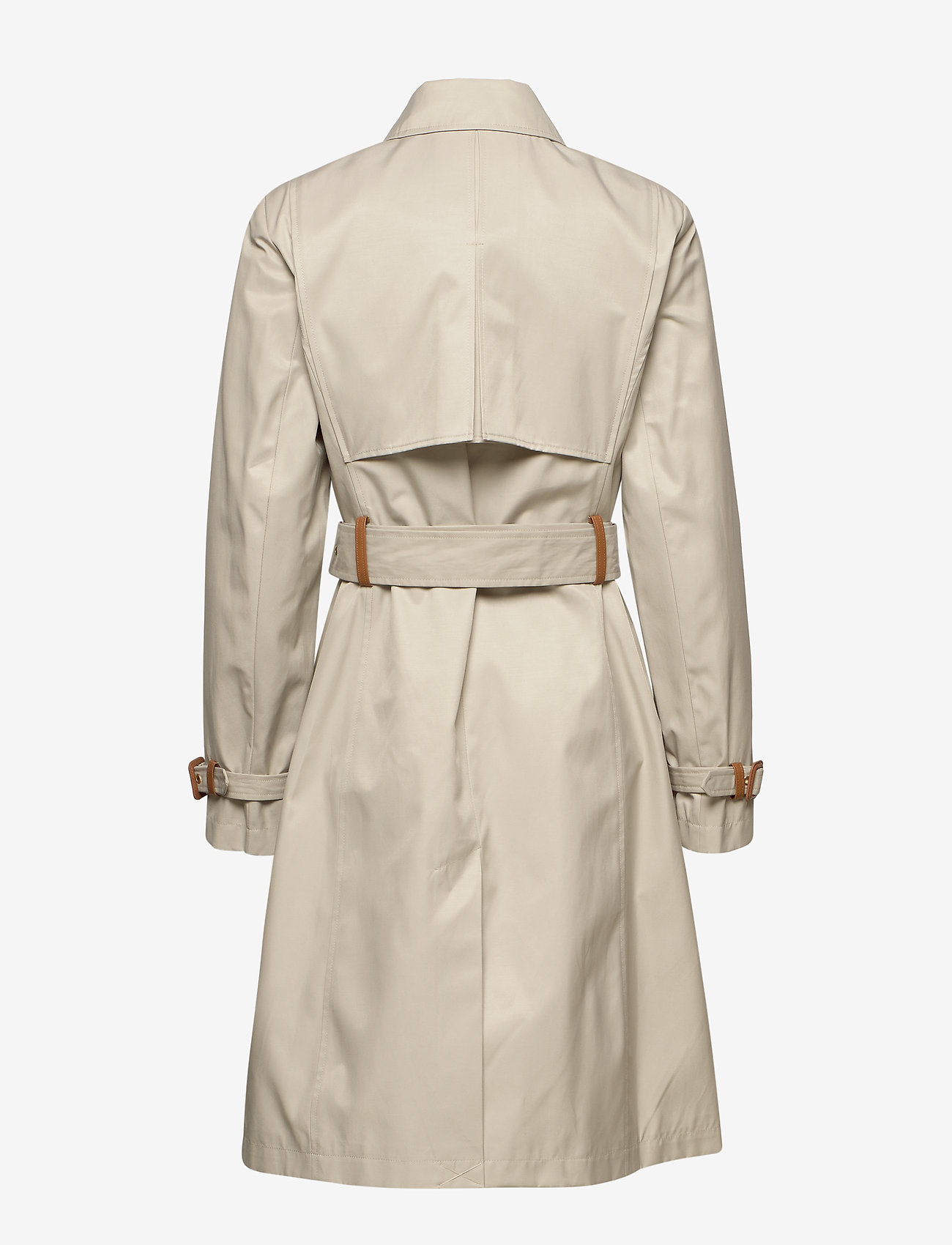 Lauren Ralph Lauren - Faux Leather–Trim Trench Coat - trencze - tone cream - 1