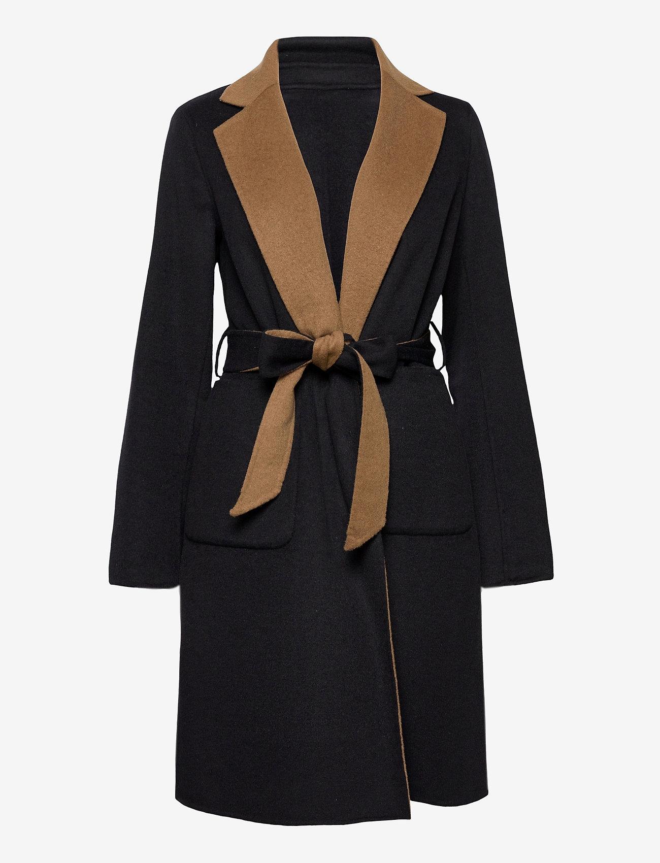Lauren Ralph Lauren - Reversible Wool-Blend Coat - uldfrakker - dark navy/new vic - 1