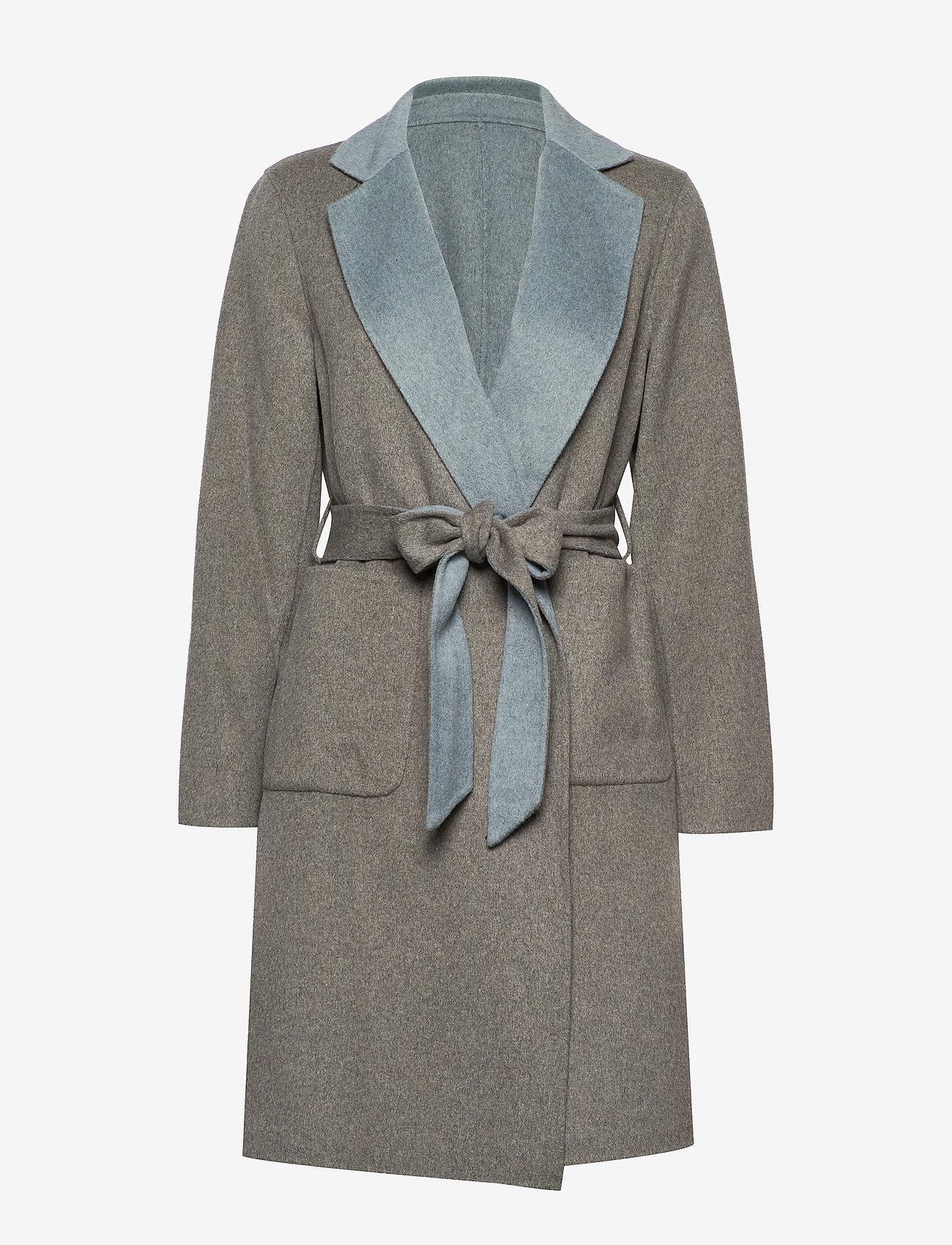 Lauren Ralph Lauren - Reversible Wool-Blend Coat - uldfrakker - grey/blue - 0