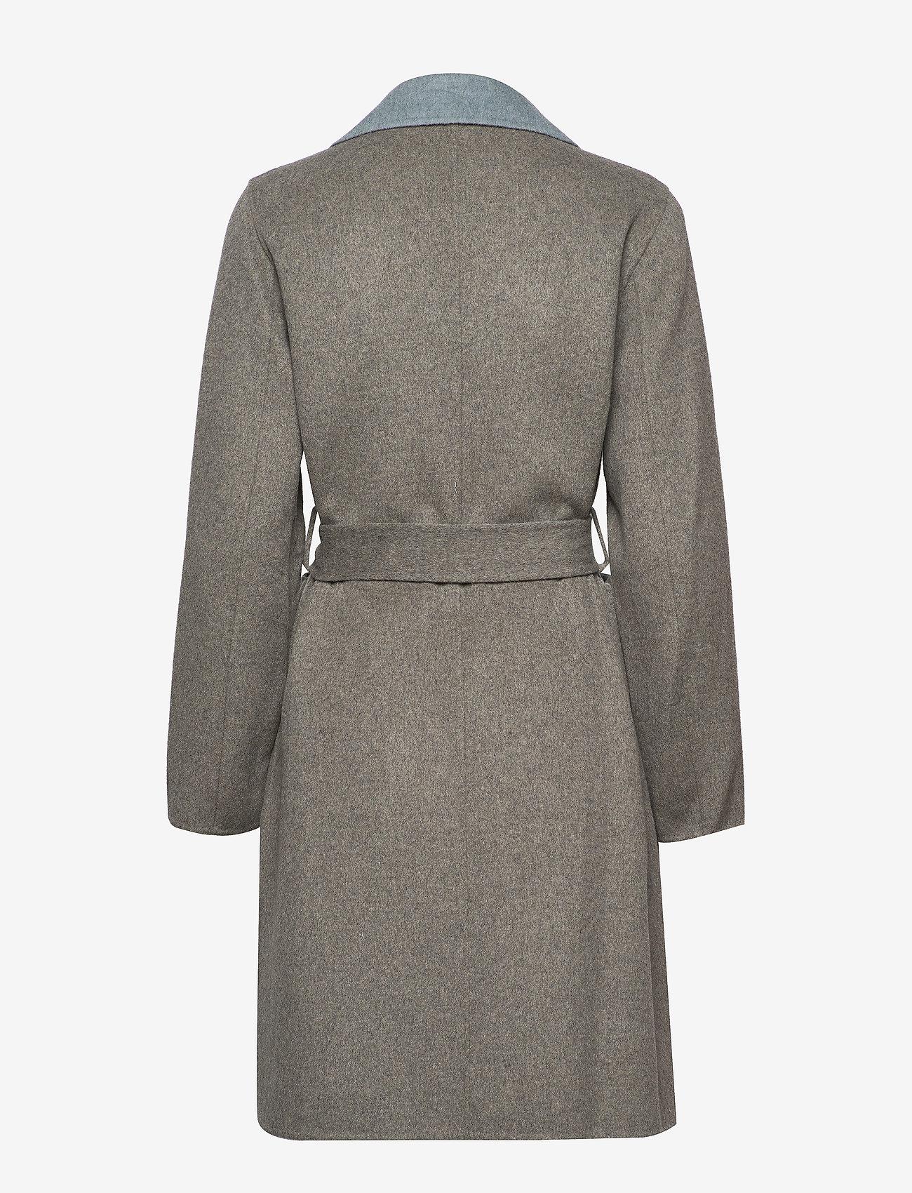 Lauren Ralph Lauren - Reversible Wool-Blend Coat - uldfrakker - grey/blue - 1