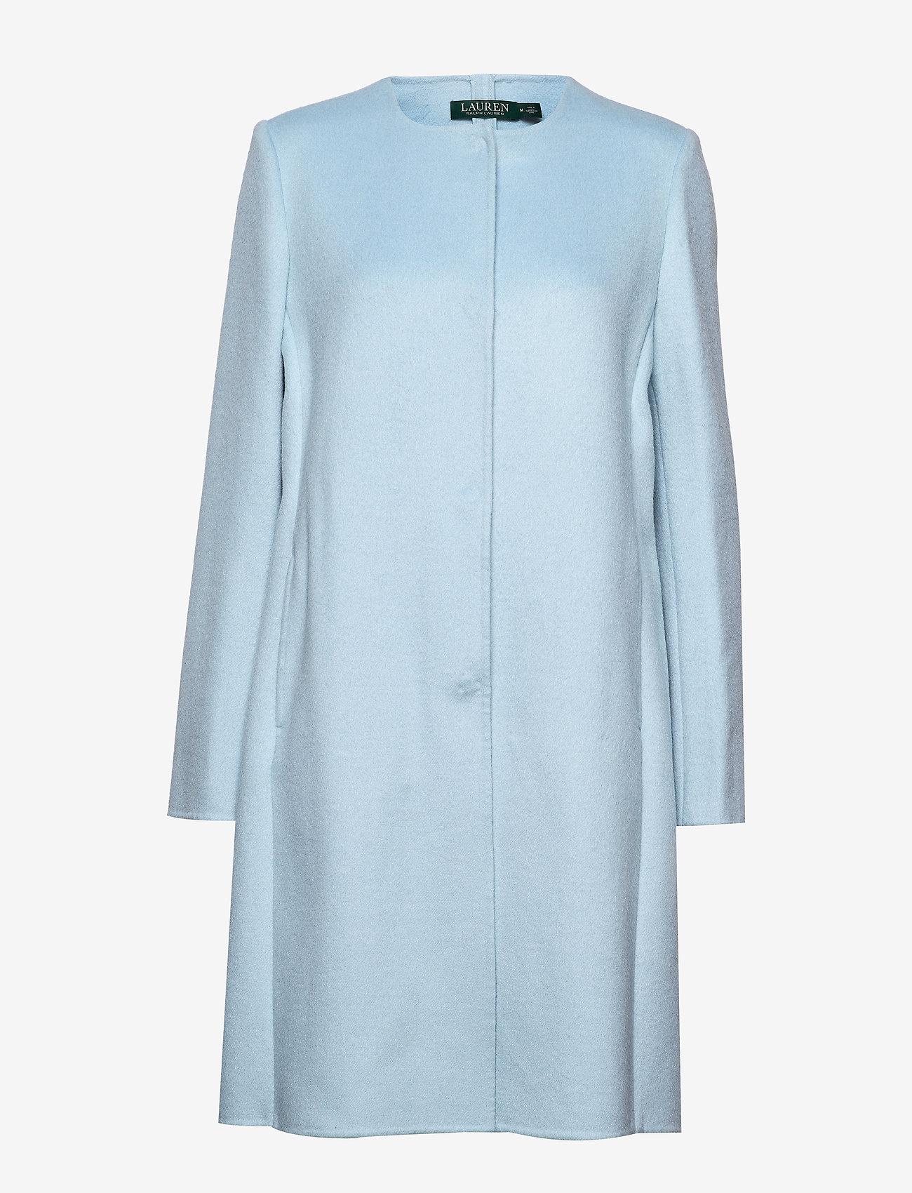 Belted Wool Coat (Light Blue) - Lauren Ralph Lauren UdZWzZ