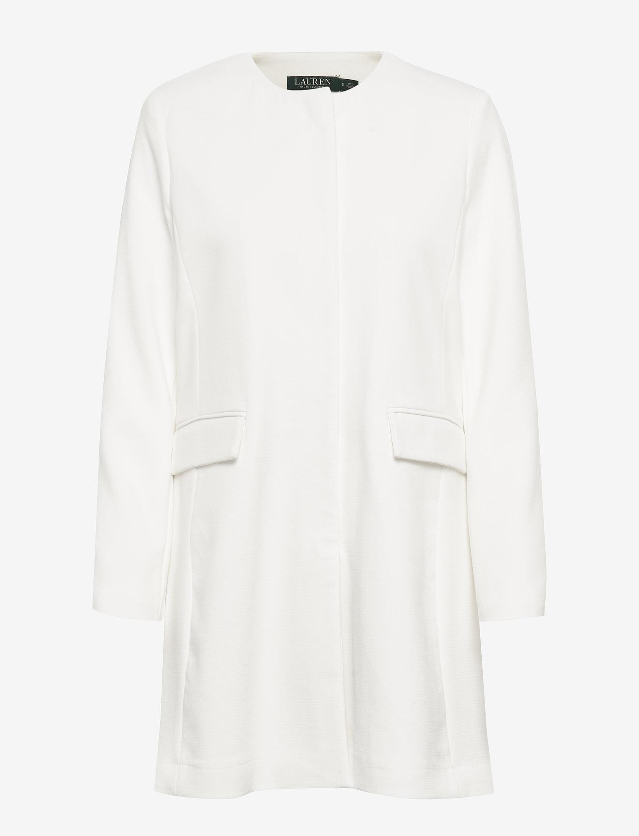 Lauren Ralph Lauren - Crepe Coat - wełniane płaszcze - cream - 0