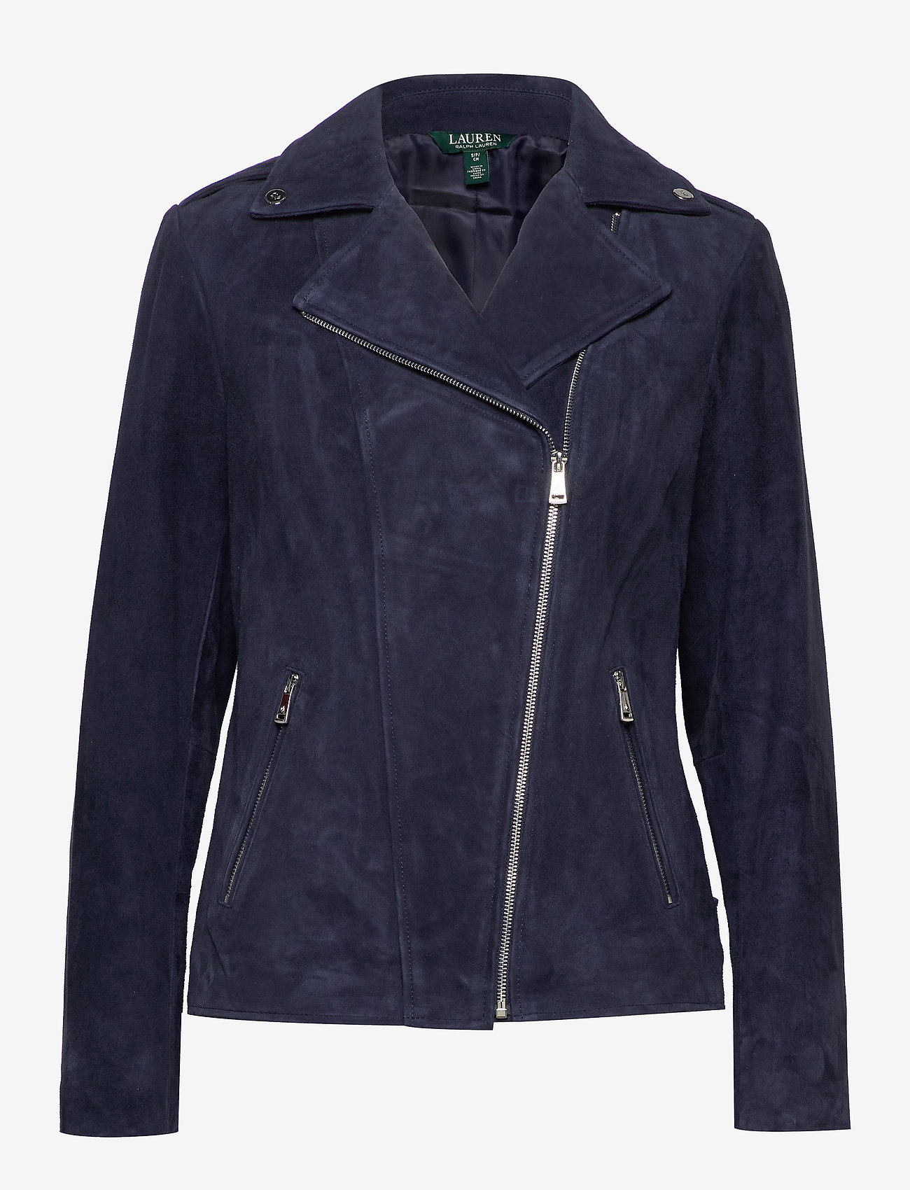 Lauren Ralph Lauren - Leather Moto Jacket - leather jackets - deep cobalt - 0