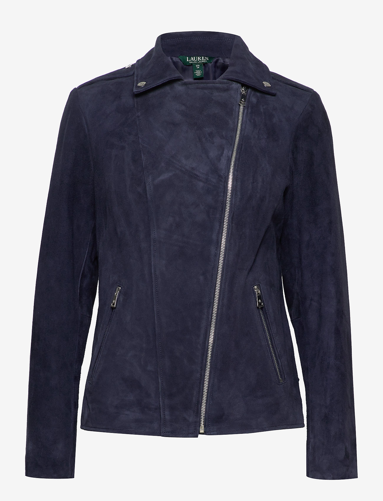 Lauren Ralph Lauren - Leather Moto Jacket - leather jackets - deep cobalt - 1