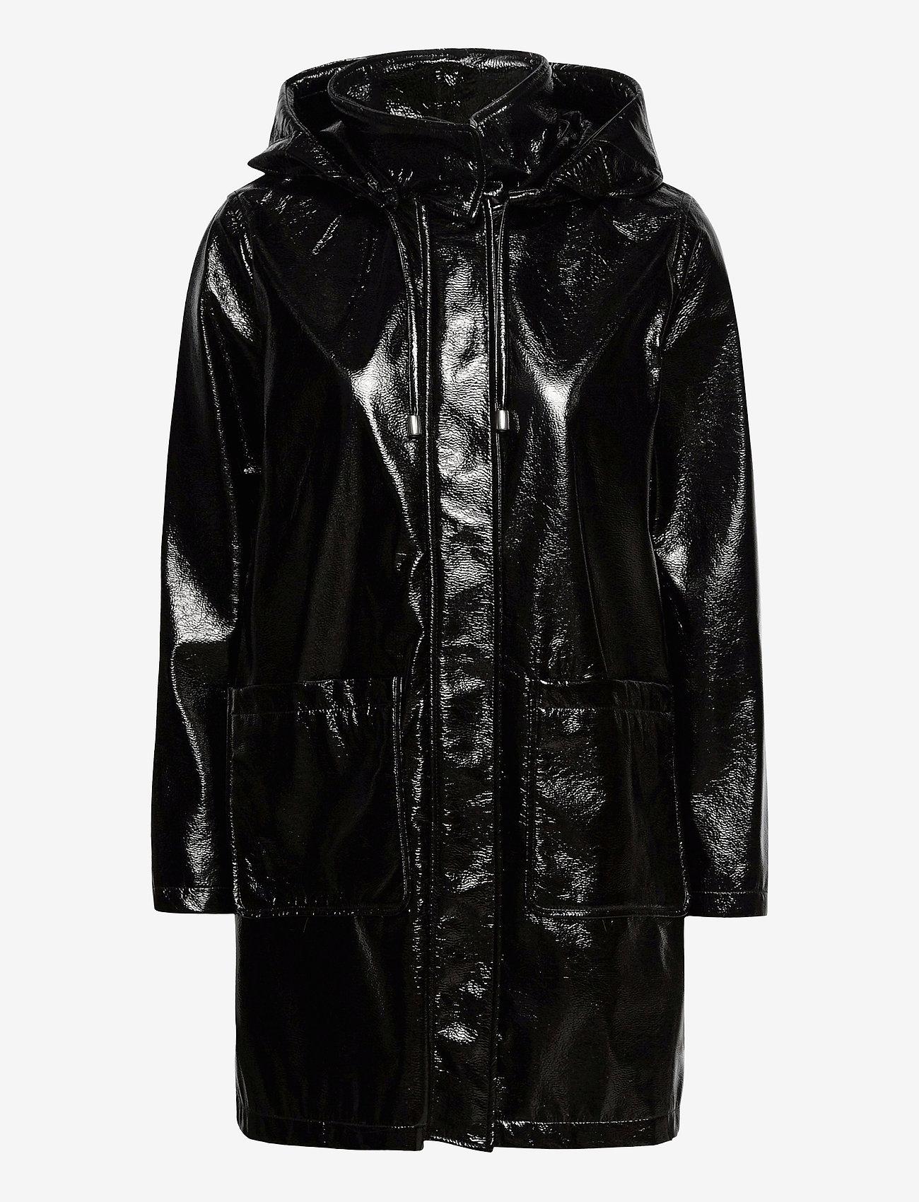 Lauren Ralph Lauren - Hooded Slicker Coat - regnjakker - black - 1