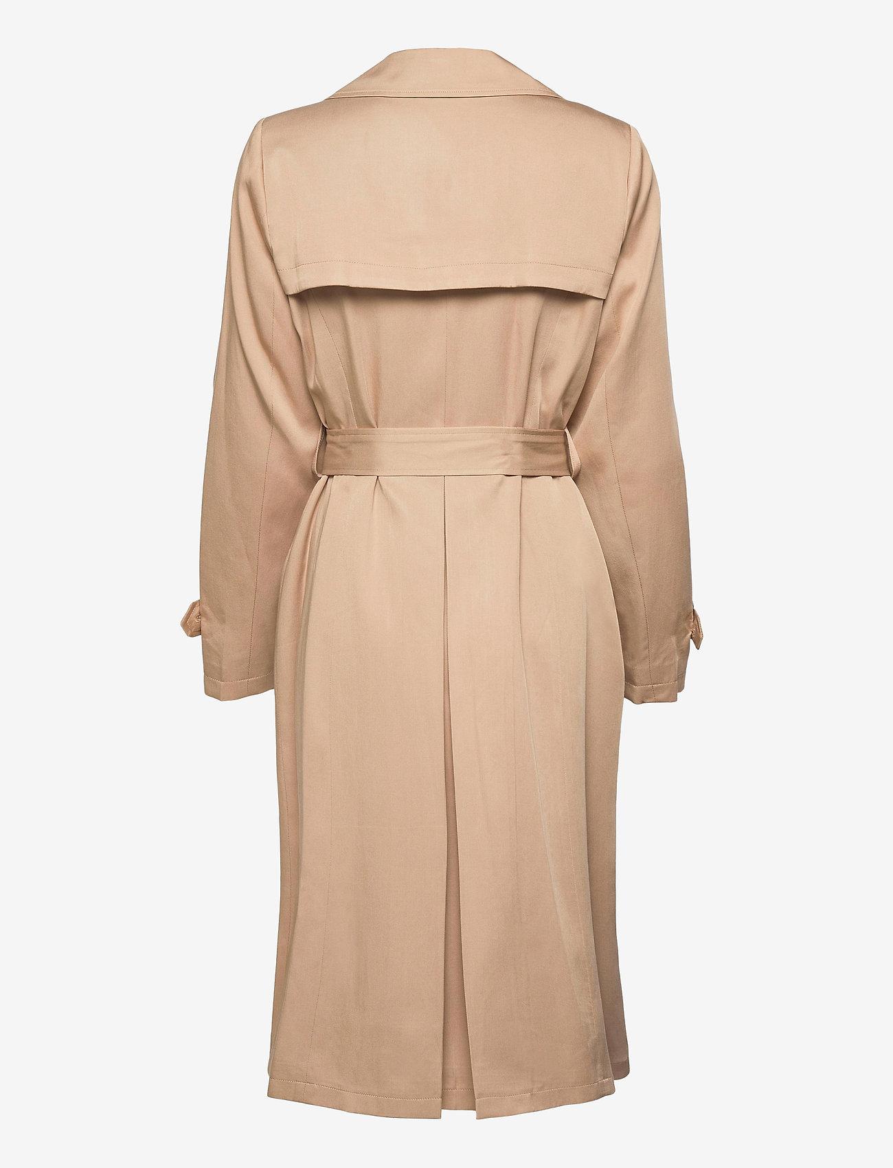 Lauren Ralph Lauren - Wrap-Style Duster Coat - trenchcoats - khaki - 1