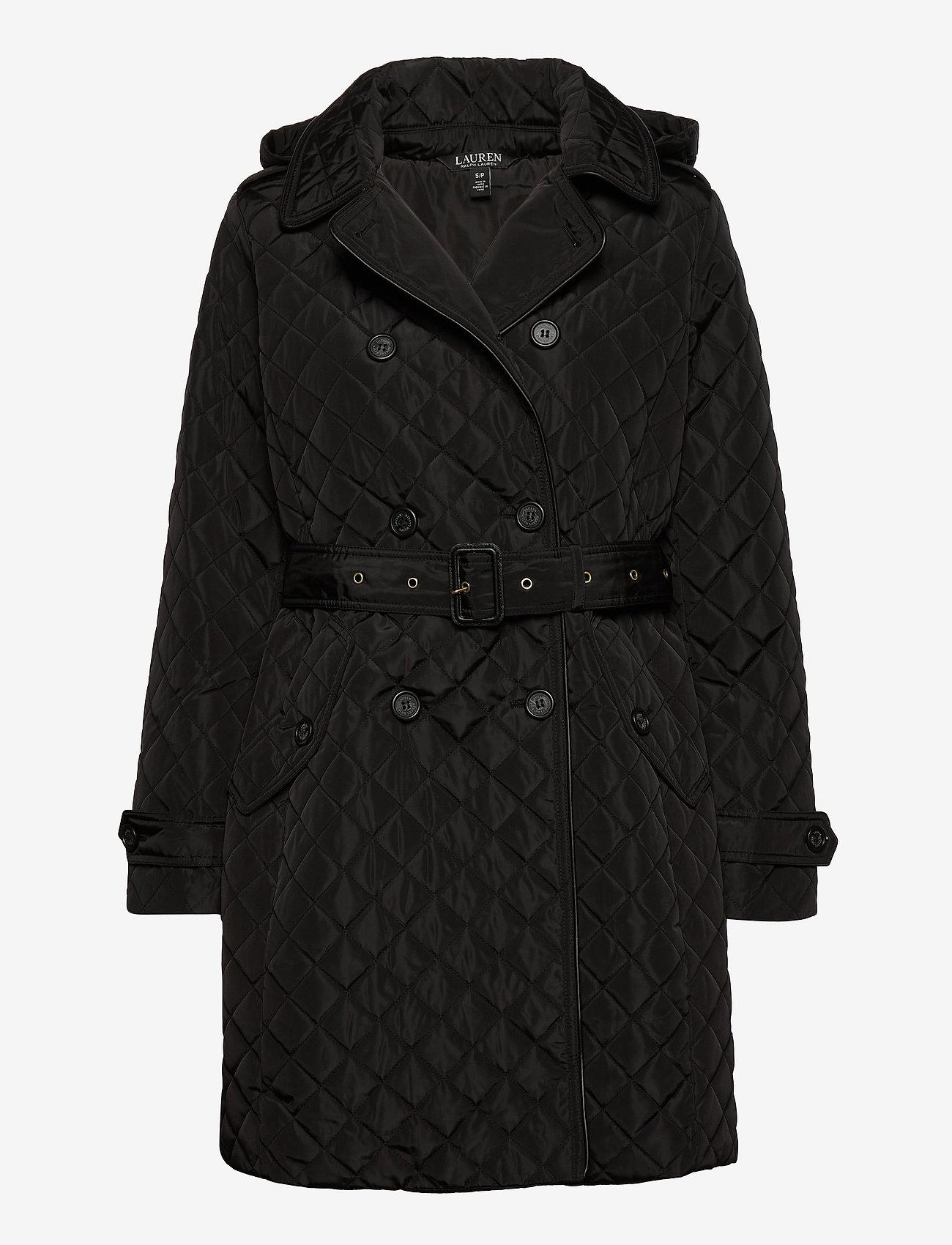 Lauren Ralph Lauren - Quilted Trench Coat - quilted jakker - black - 1