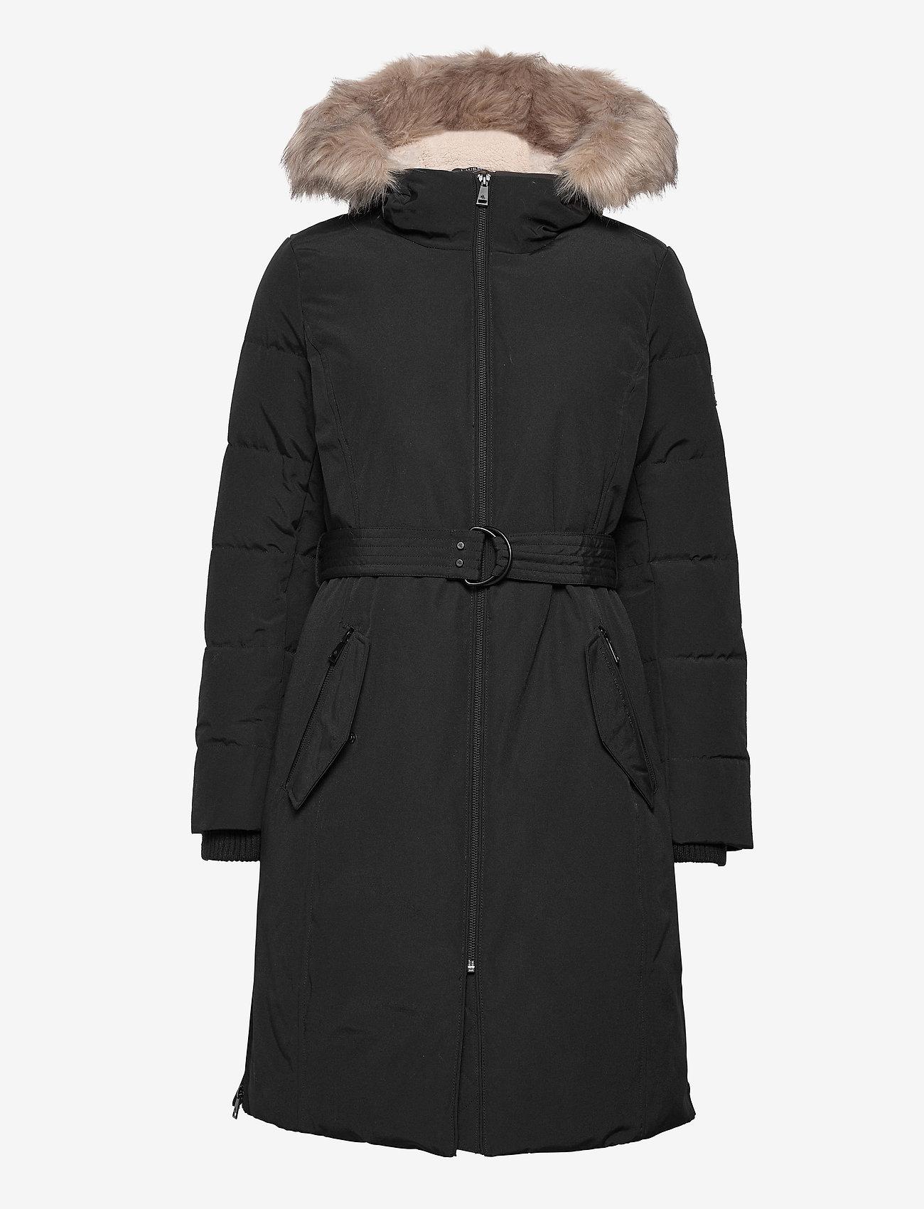 Lauren Ralph Lauren - Belted Hooded Down Coat - parkacoats - black - 1