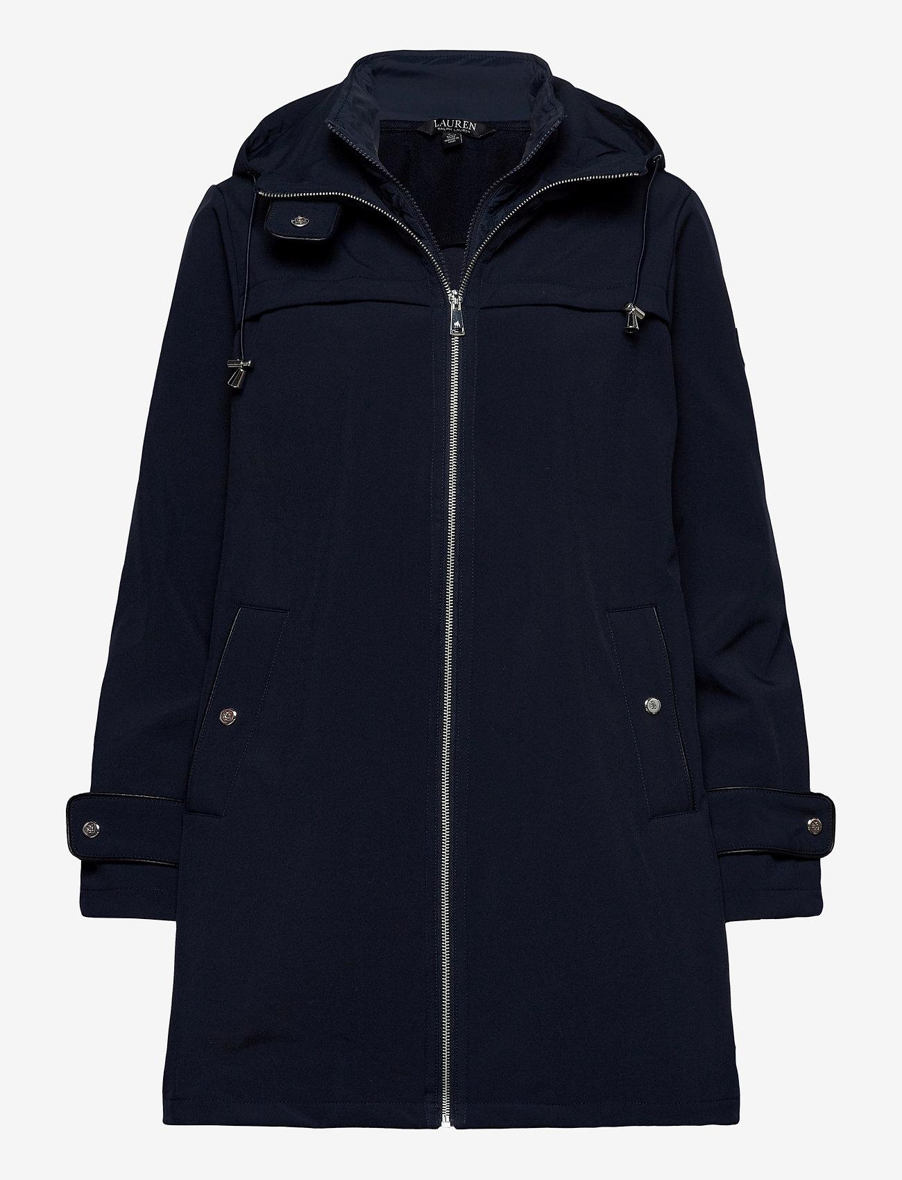 Lauren Ralph Lauren - Hooded Quilted-Bib Jacket - quiltede jakker - navy - 1