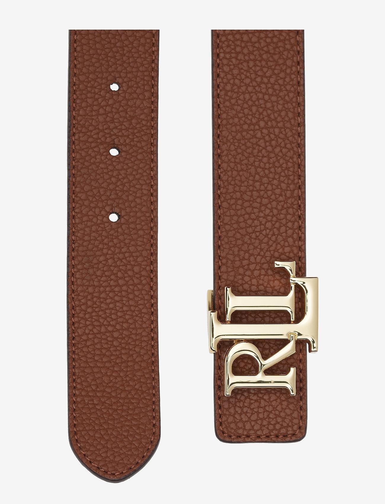 Lauren Ralph Logo Leather Belt - Ceintures Tan/dark B