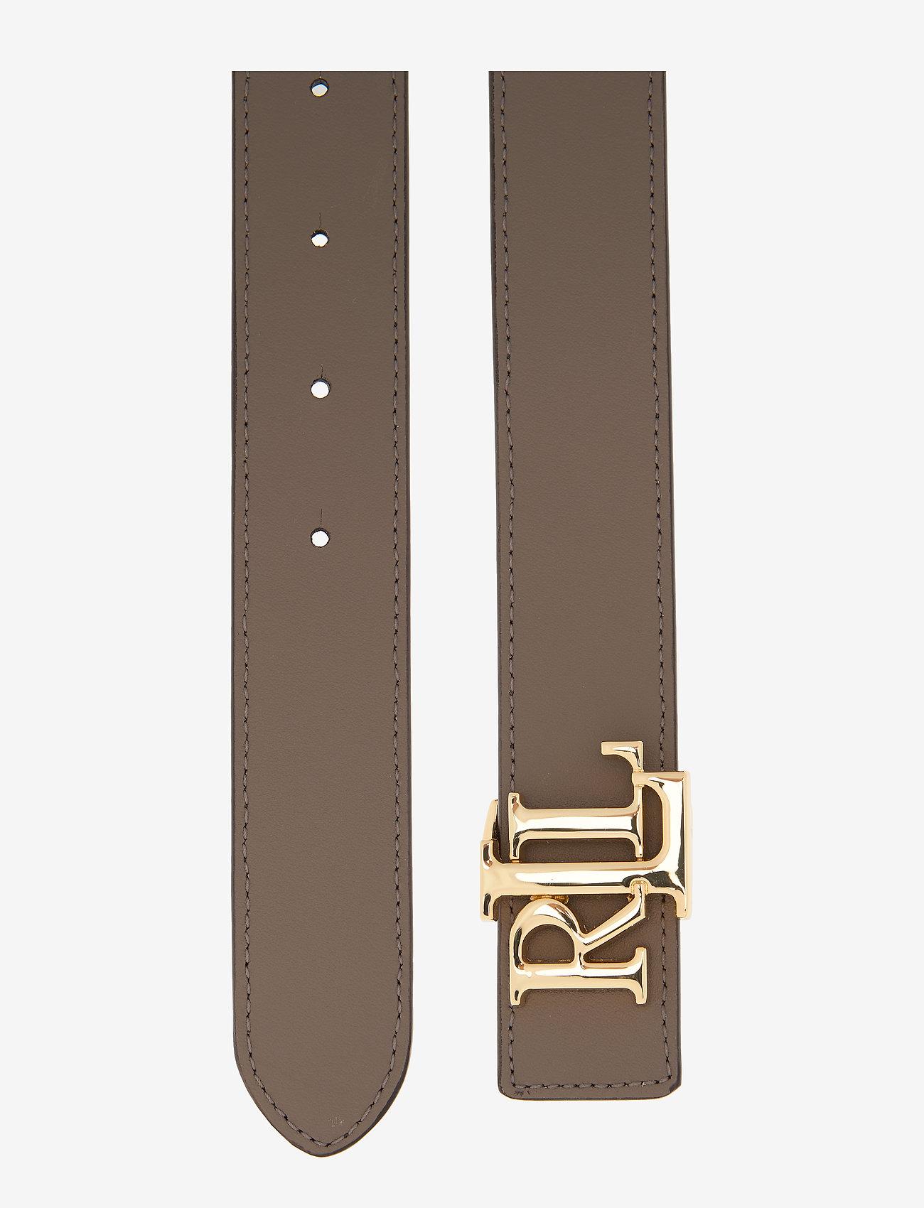 Lauren Ralph Reversible Leather Belt - Ceintures Deep Olive/taupe