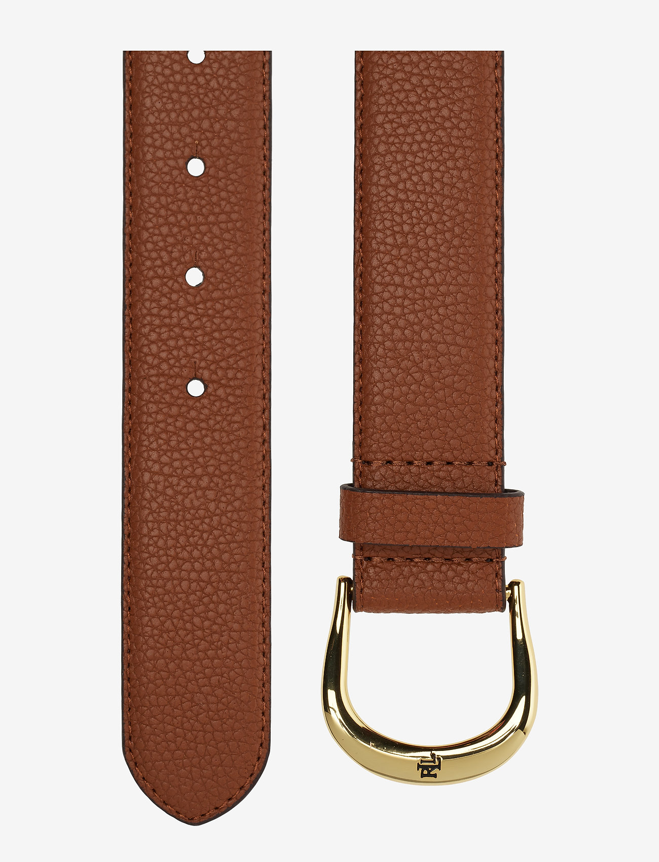 Lauren Ralph Lauren - Pebbled Leather Belt - bælter - lauren tan - 1