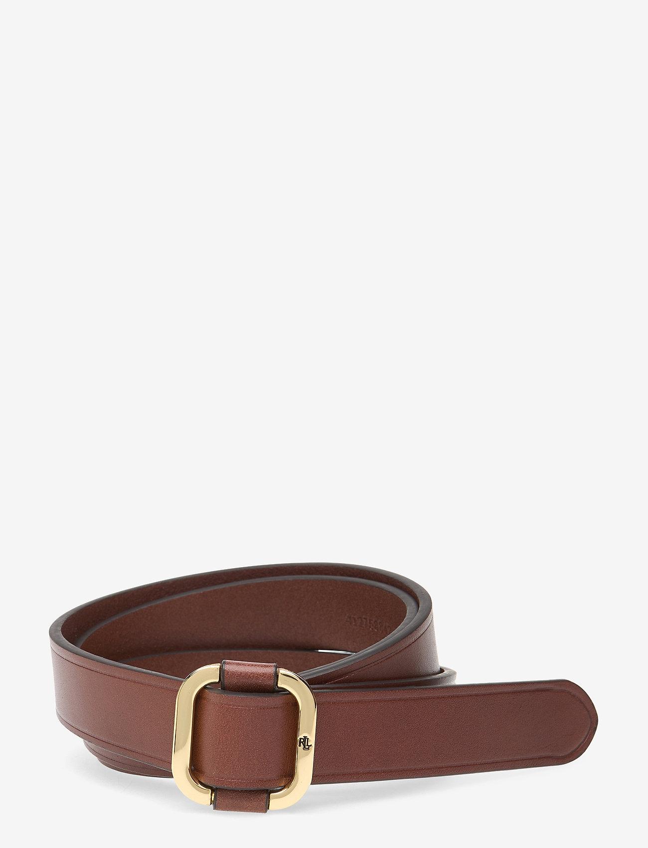 Lauren Ralph Lauren - Leather Slide Buckle Belt - belter - cuoio - 0