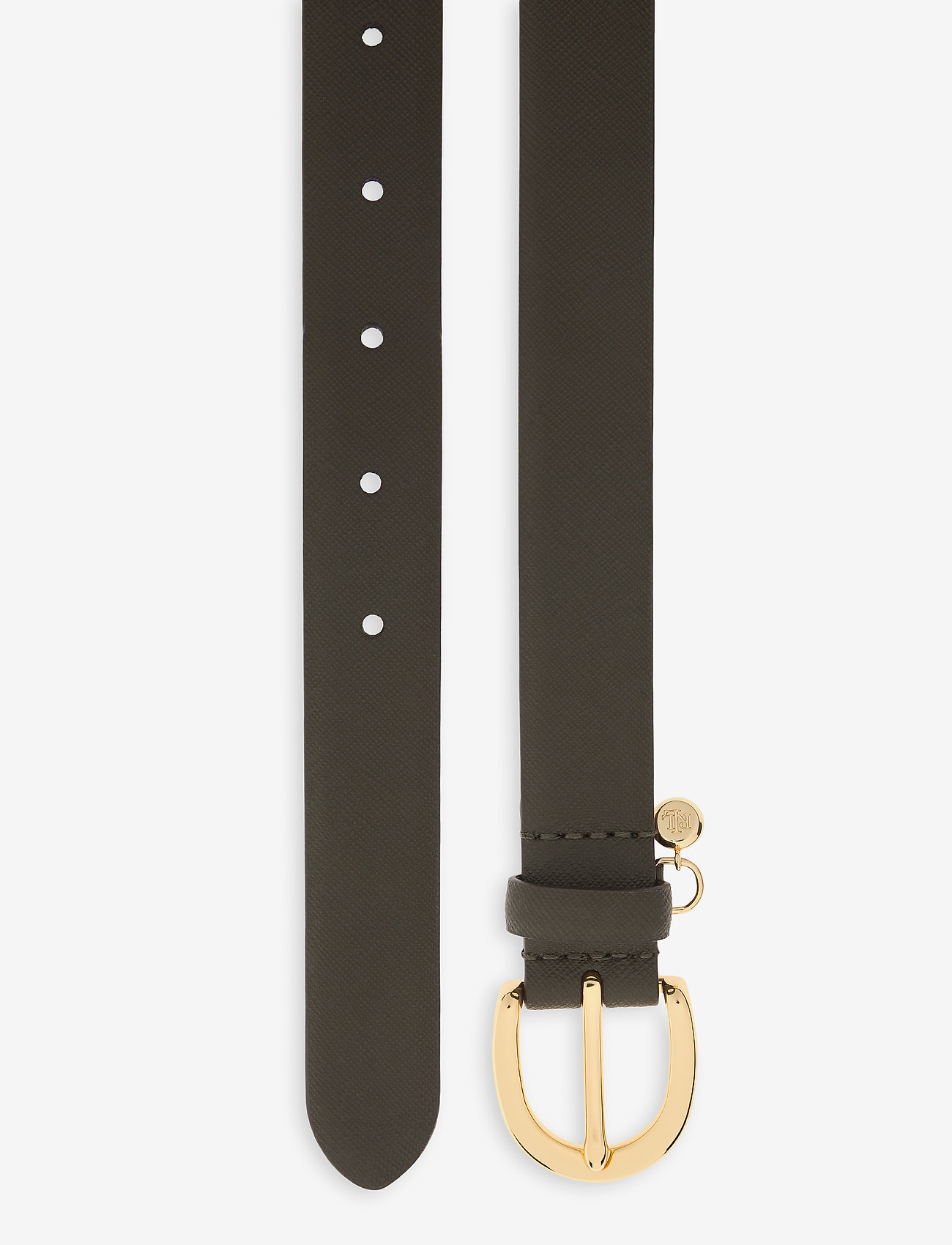 Lauren Ralph Lauren - Charm Saffiano Leather Belt - riemen - deep olive - 1