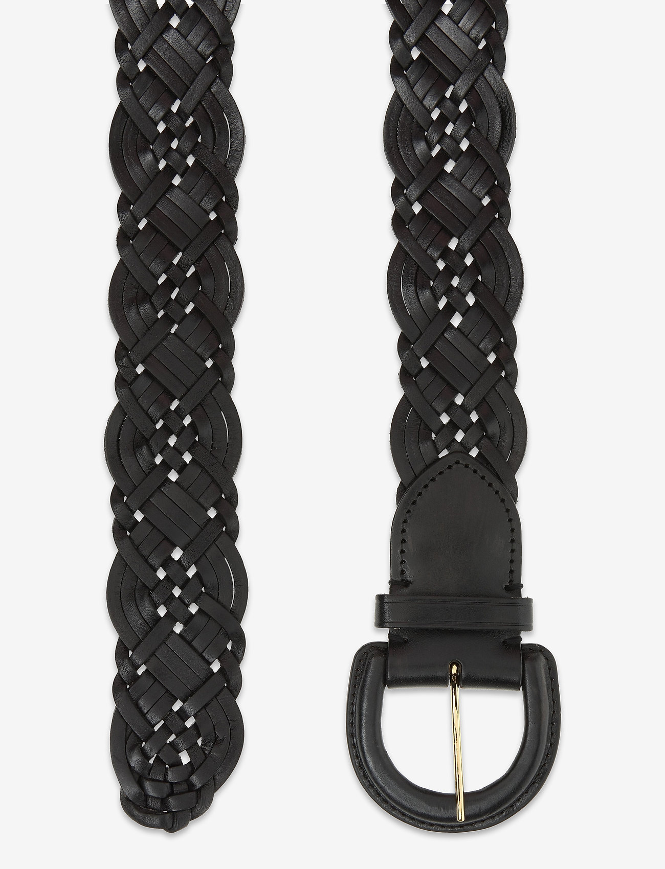 Lauren Ralph Lauren - Braided Leather Belt - bælter - black - 1