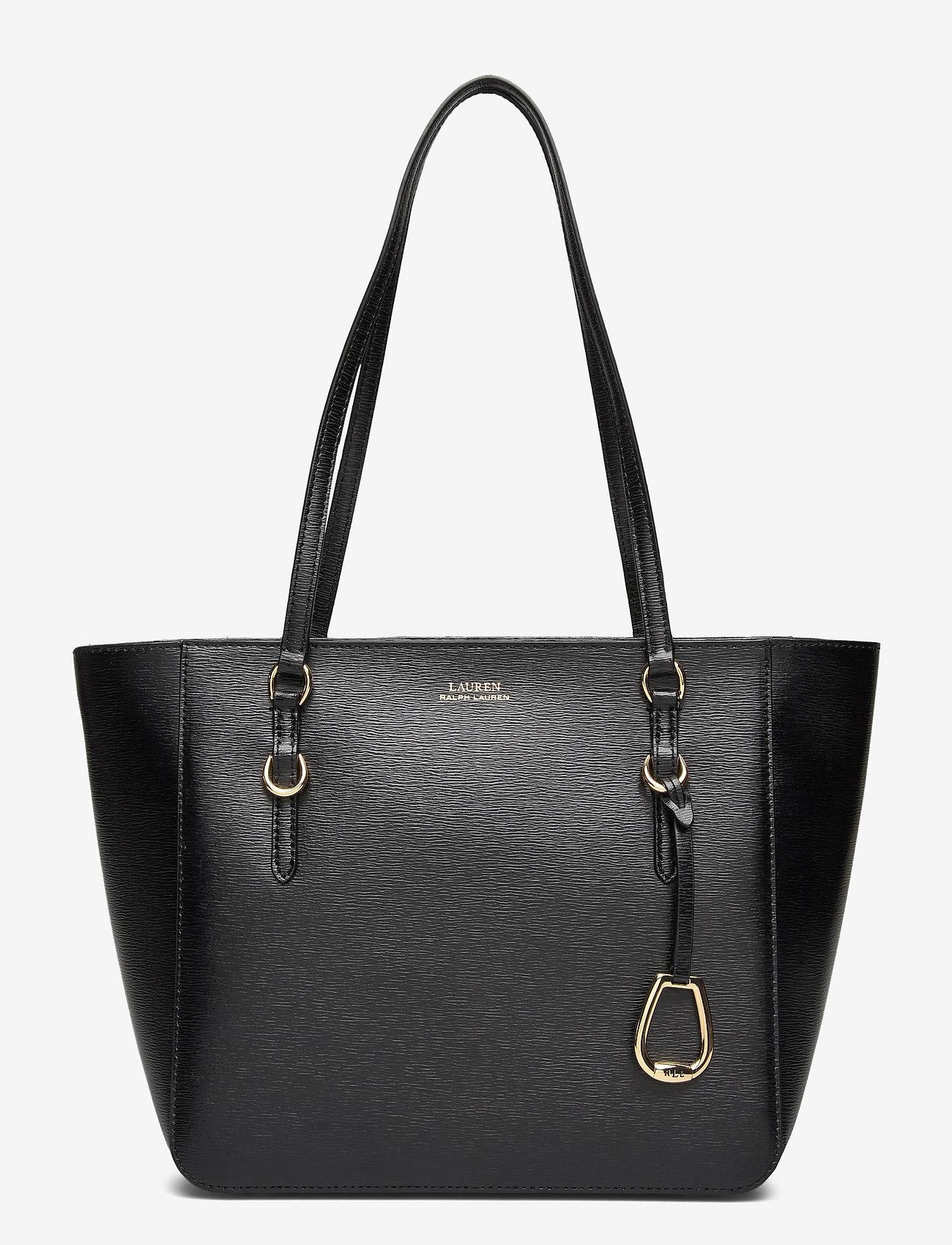 Lauren Ralph Lauren - Saffiano Leather Medium Tote - fashion shoppers - black
