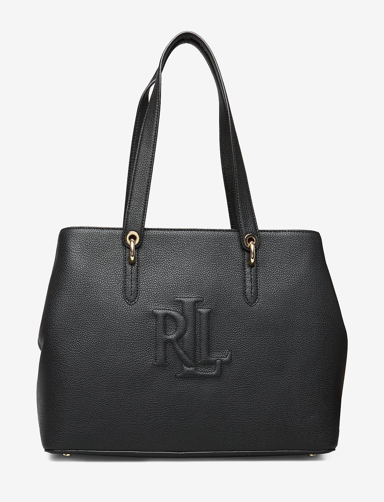 Lauren Ralph Leather Highfield Tote Bag - Shopping Black