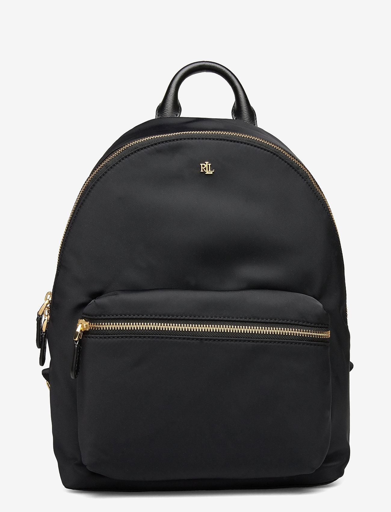 Lauren Ralph Lauren - Nylon Medium Clarkson Backpack - rygsække - black - 0