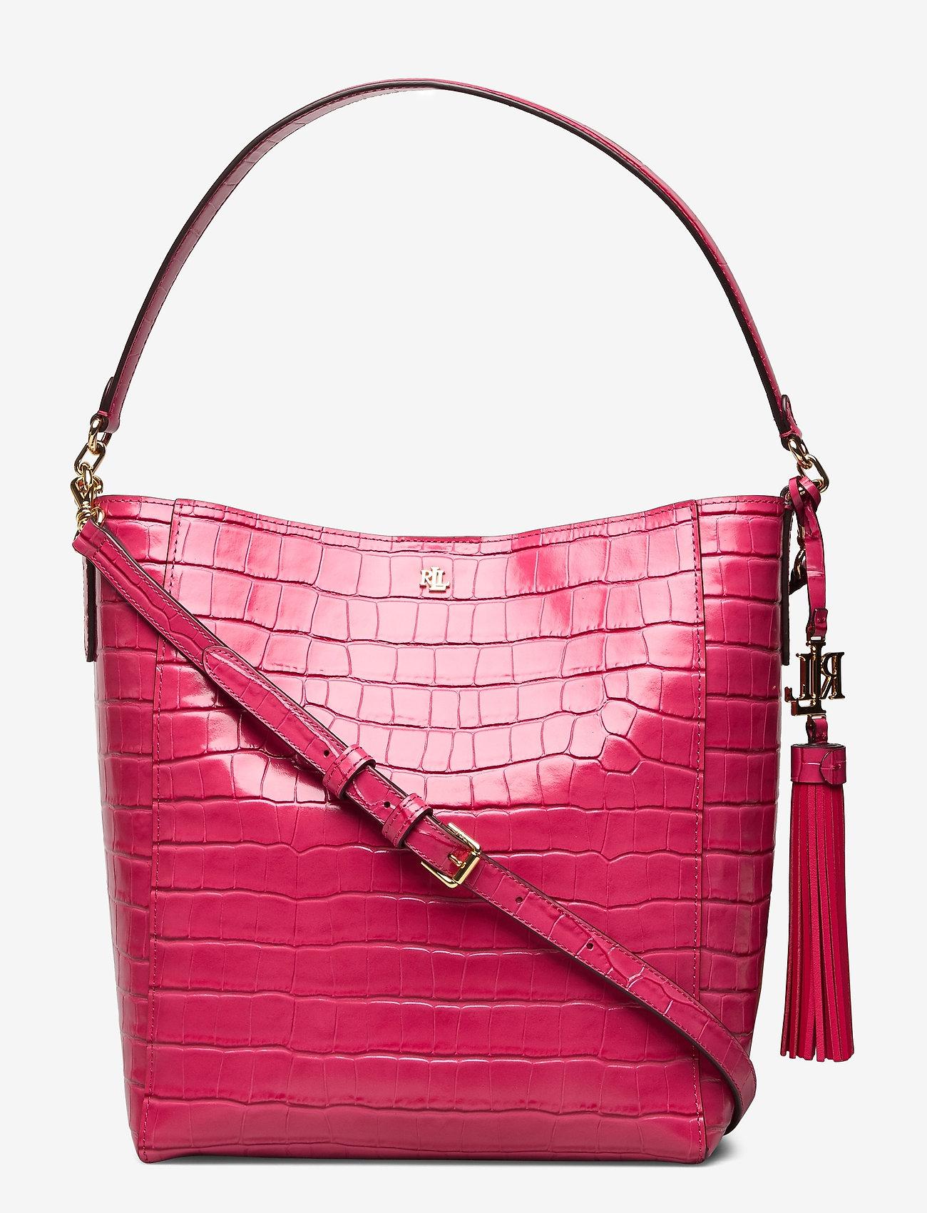 Lauren Ralph Lauren - Medium Adley Shoulder Bag - bucket-tasker - ruby - 0