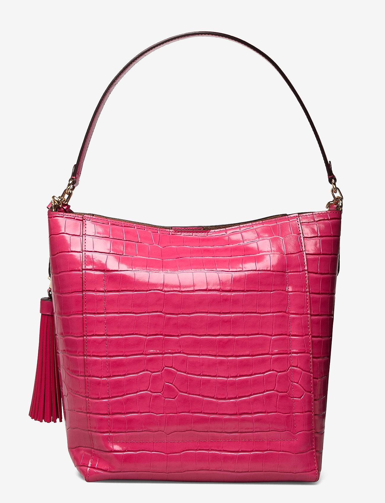 Lauren Ralph Lauren - Medium Adley Shoulder Bag - bucket-tasker - ruby - 1
