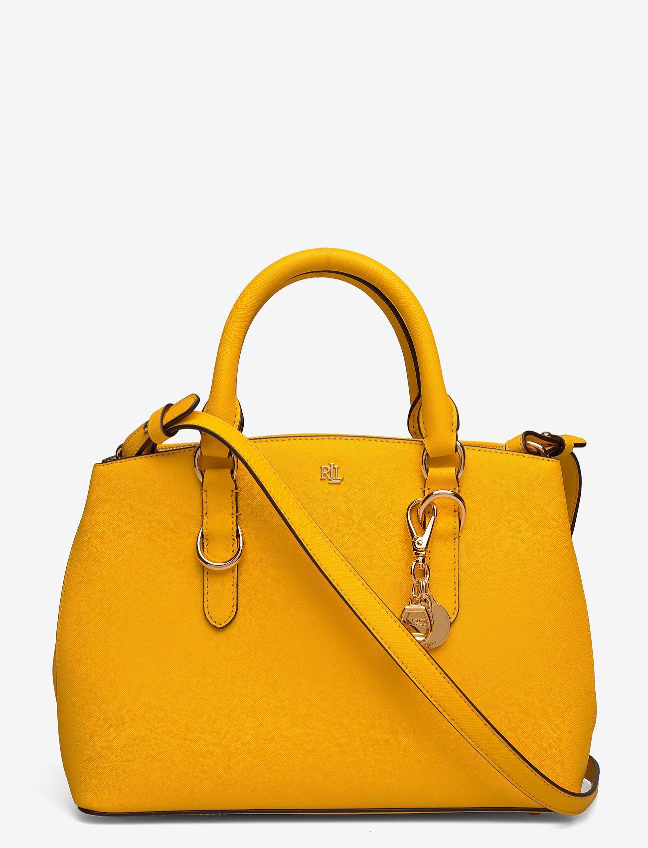 Lauren Ralph Lauren - Saffiano Leather Mini Satchel - top handle - canary yellow - 0