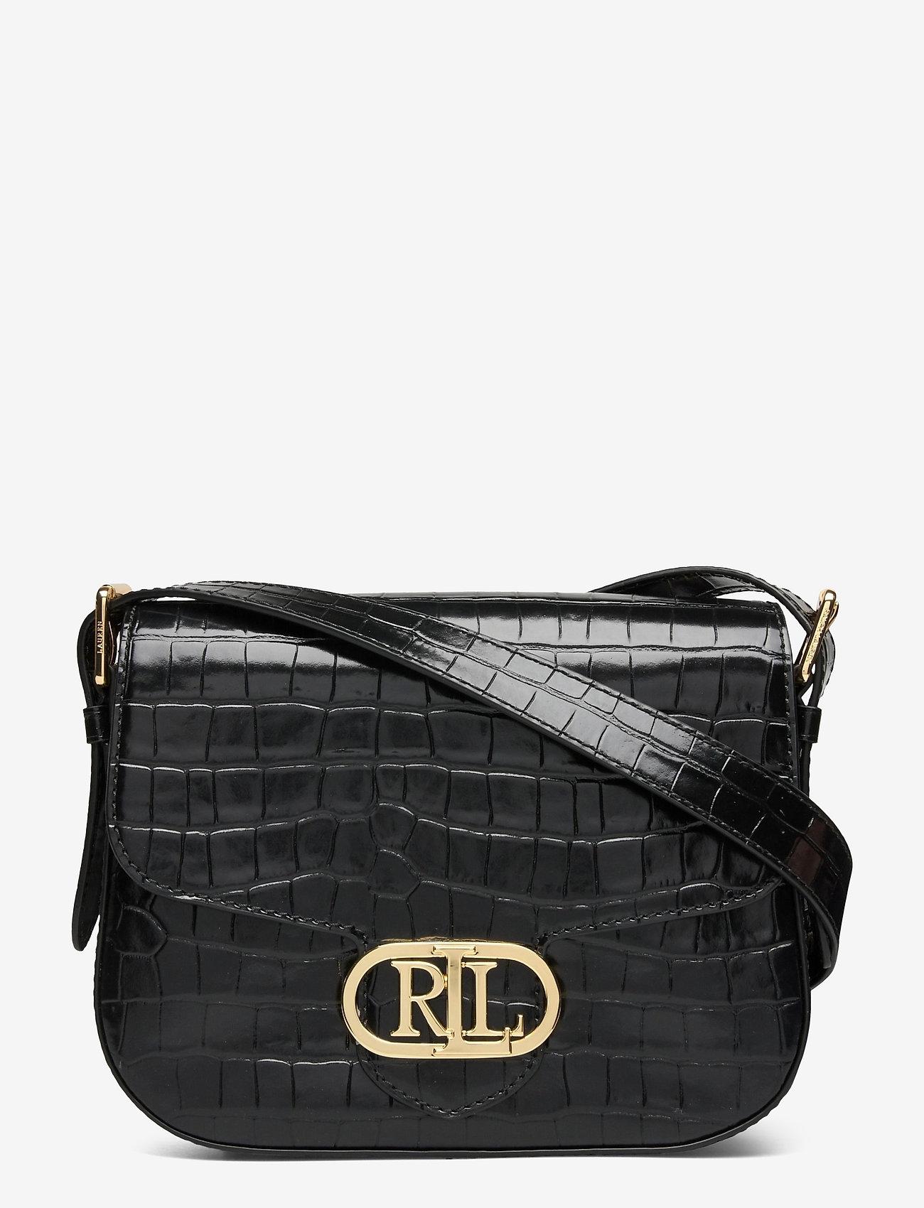 Lauren Ralph Lauren - Embossed Leather Medium Addie Crossbody - crossbody bags - black - 0