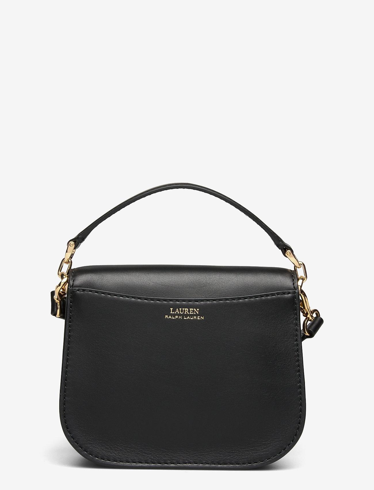 Lauren Ralph Lauren - Vegan Leather Small Addie Crossbody - crossbody bags - black - 1