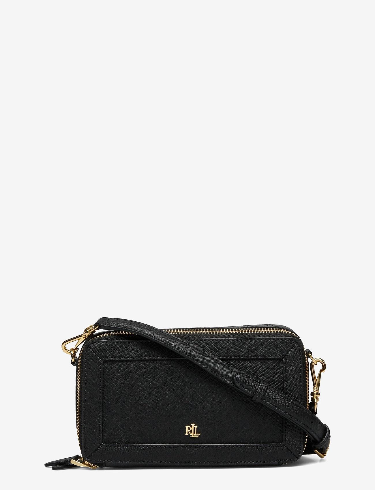 Lauren Ralph Lauren - Crosshatch Leather Danna Crossbody - crossbody bags - black - 0