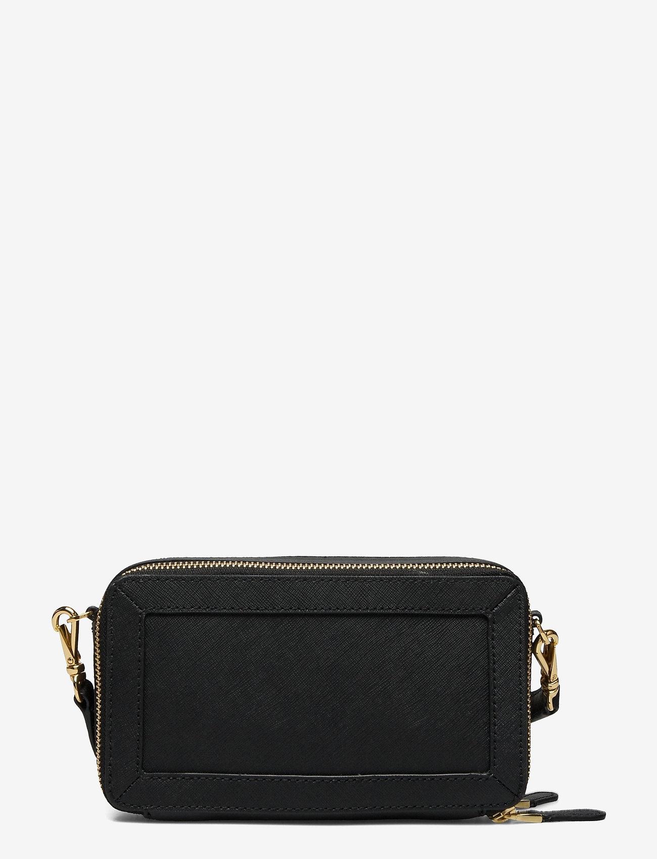 Lauren Ralph Lauren - Crosshatch Leather Danna Crossbody - crossbody bags - black - 1