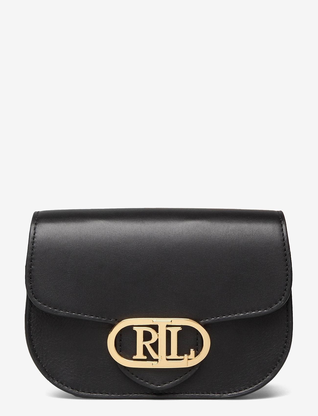 Lauren Ralph Lauren - Aged Leather Medium Addie Belt Bag - bæltetasker - black - 0