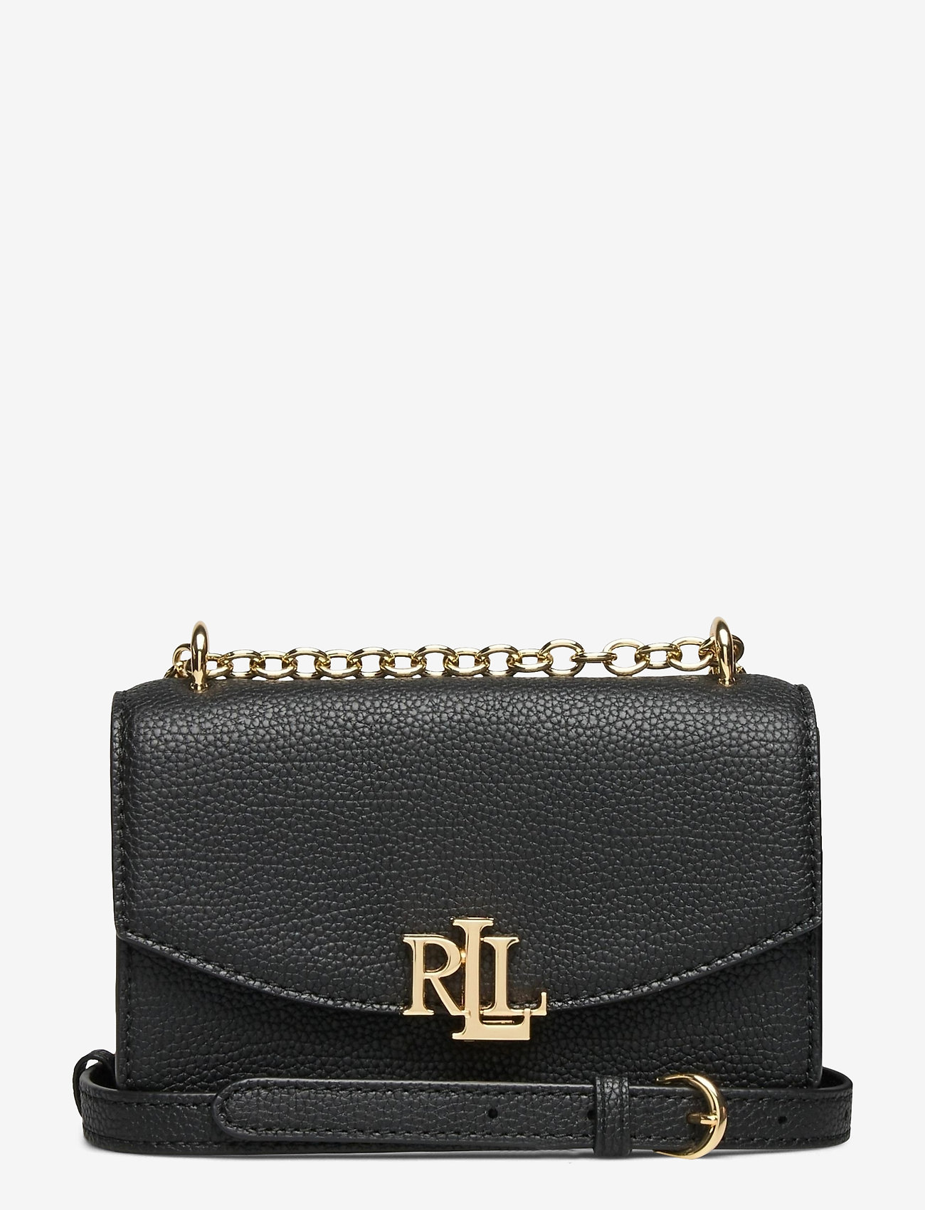 Lauren Ralph Lauren - Small Leather Madison Crossbody Bag - crossbody bags - black - 0