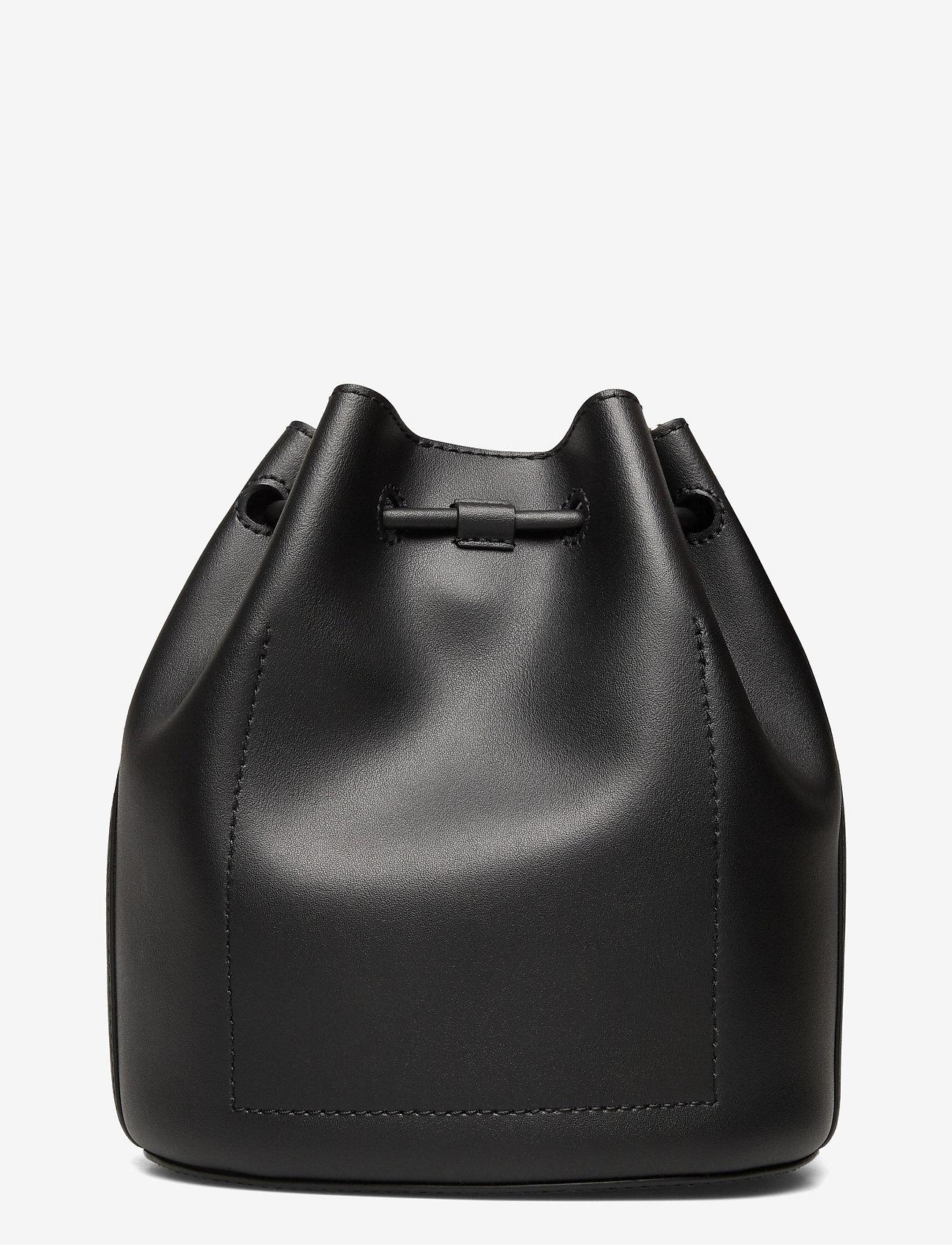 Lauren Ralph Lauren - Leather Medium Andie Drawstring Bag - bucketväskor - black - 1