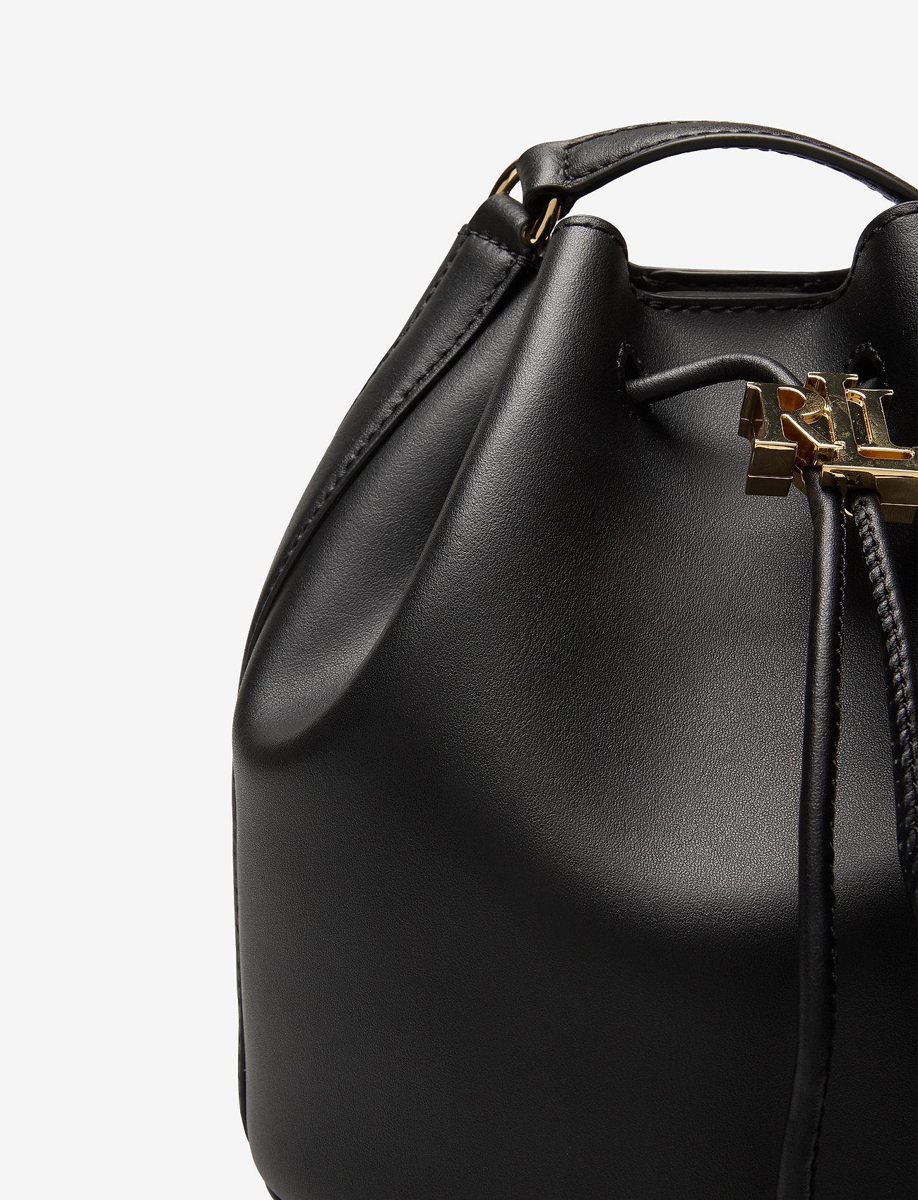 Lauren Ralph Lauren - Leather Medium Andie Drawstring Bag - bucketväskor - black - 3