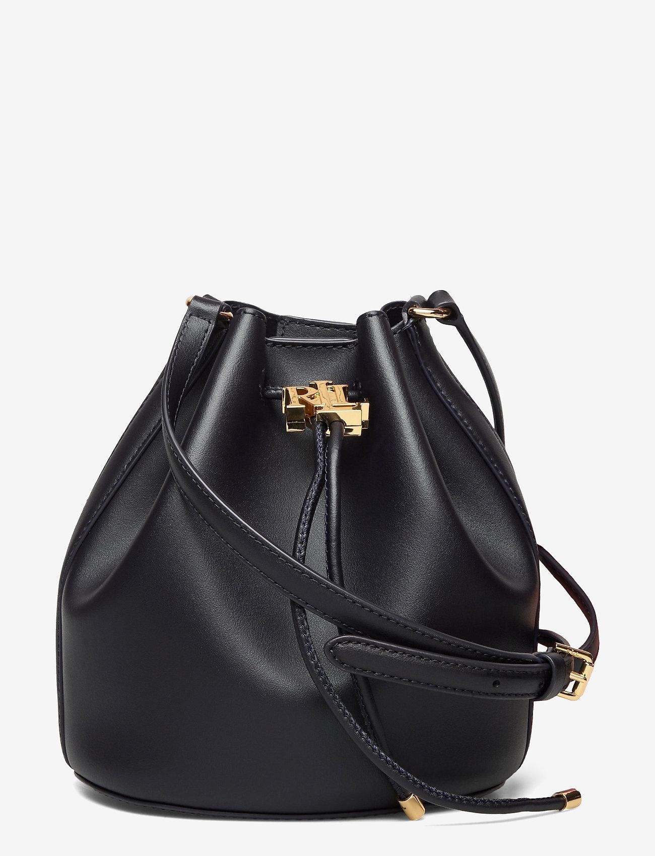 Lauren Ralph Lauren - Leather Medium Andie Drawstring Bag - bucket-laukut - lauren navy - 0