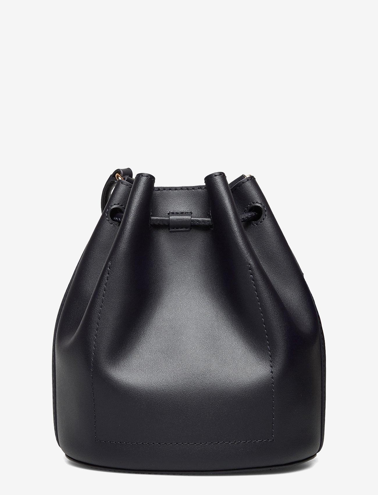 Lauren Ralph Lauren - Leather Medium Andie Drawstring Bag - bucket-laukut - lauren navy - 1