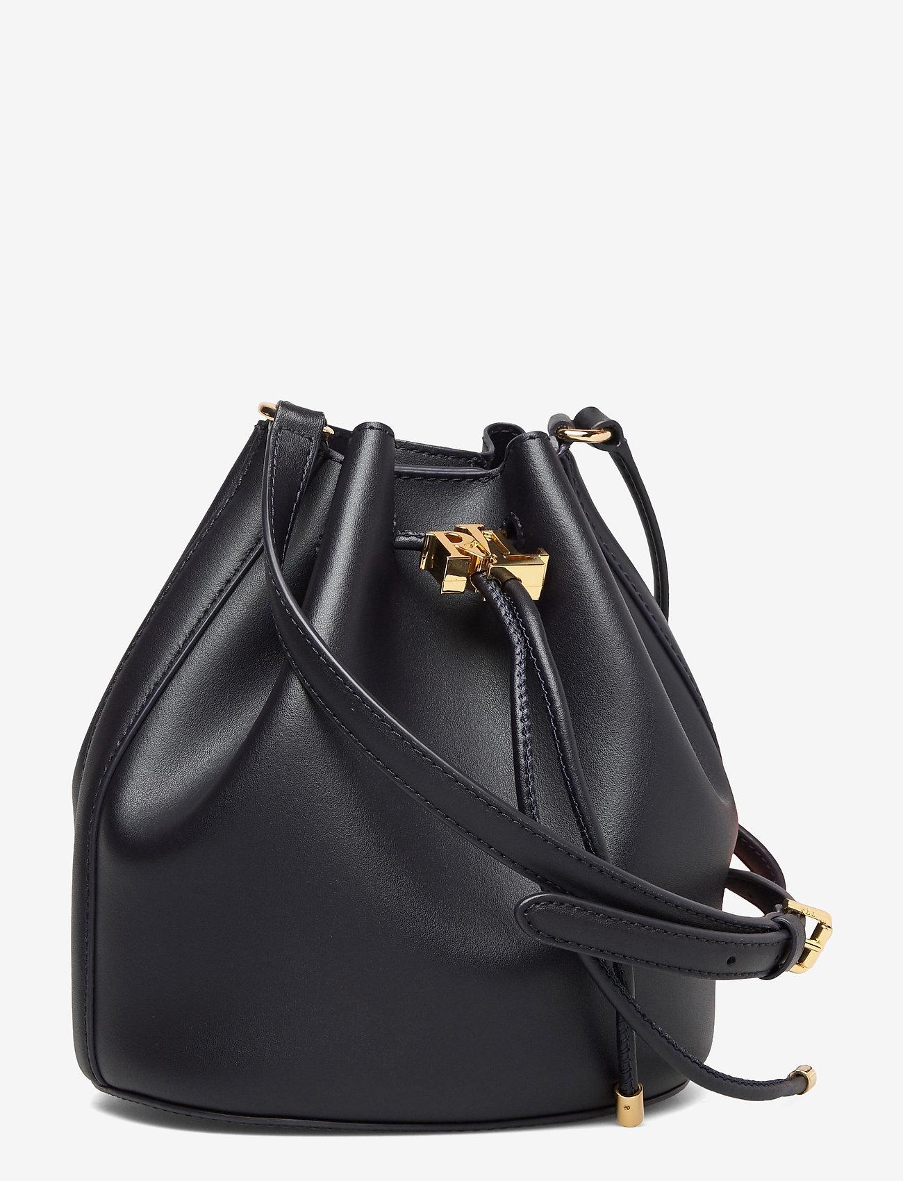 Lauren Ralph Lauren - Leather Medium Andie Drawstring Bag - bucketväskor - lauren navy - 2
