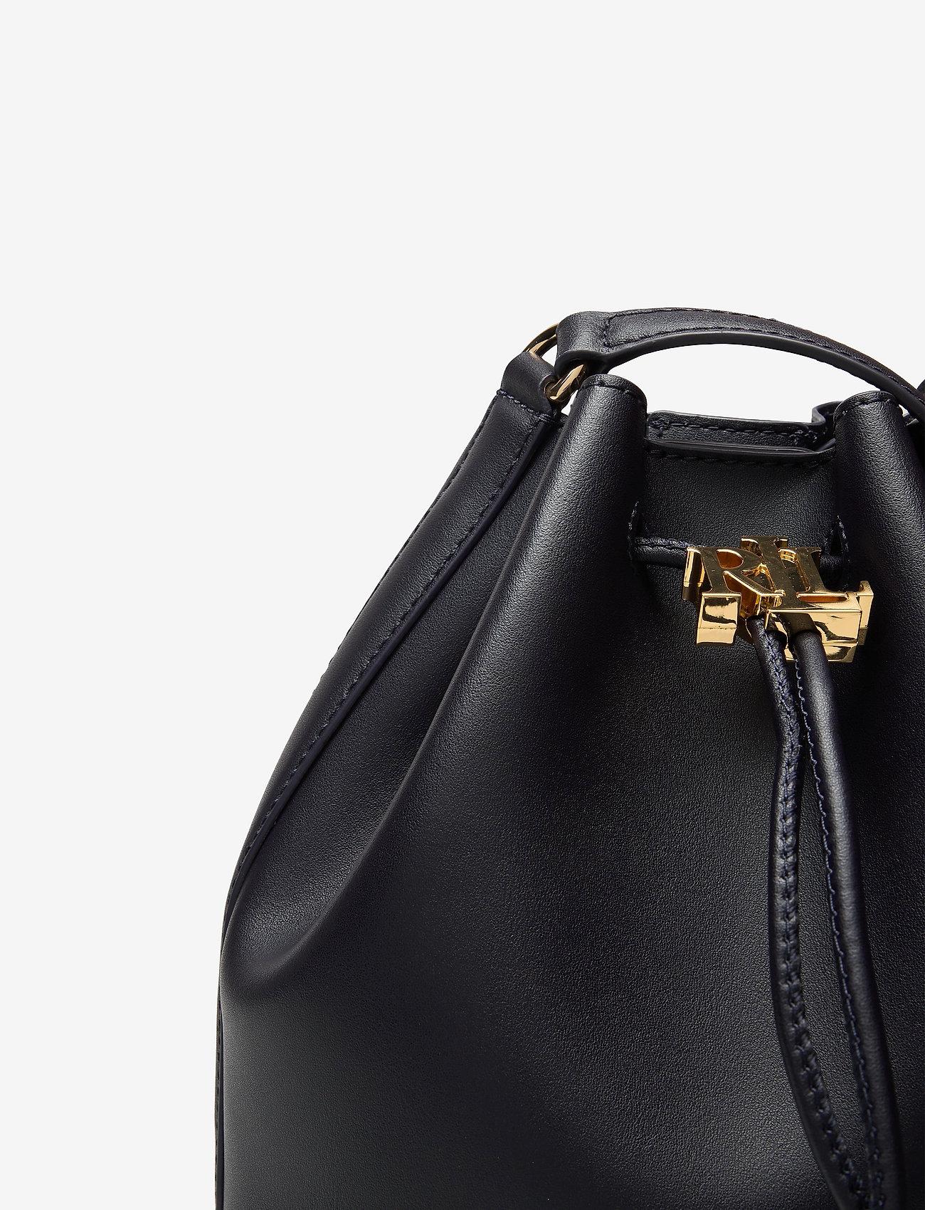 Lauren Ralph Lauren - Leather Medium Andie Drawstring Bag - bucketväskor - lauren navy - 3