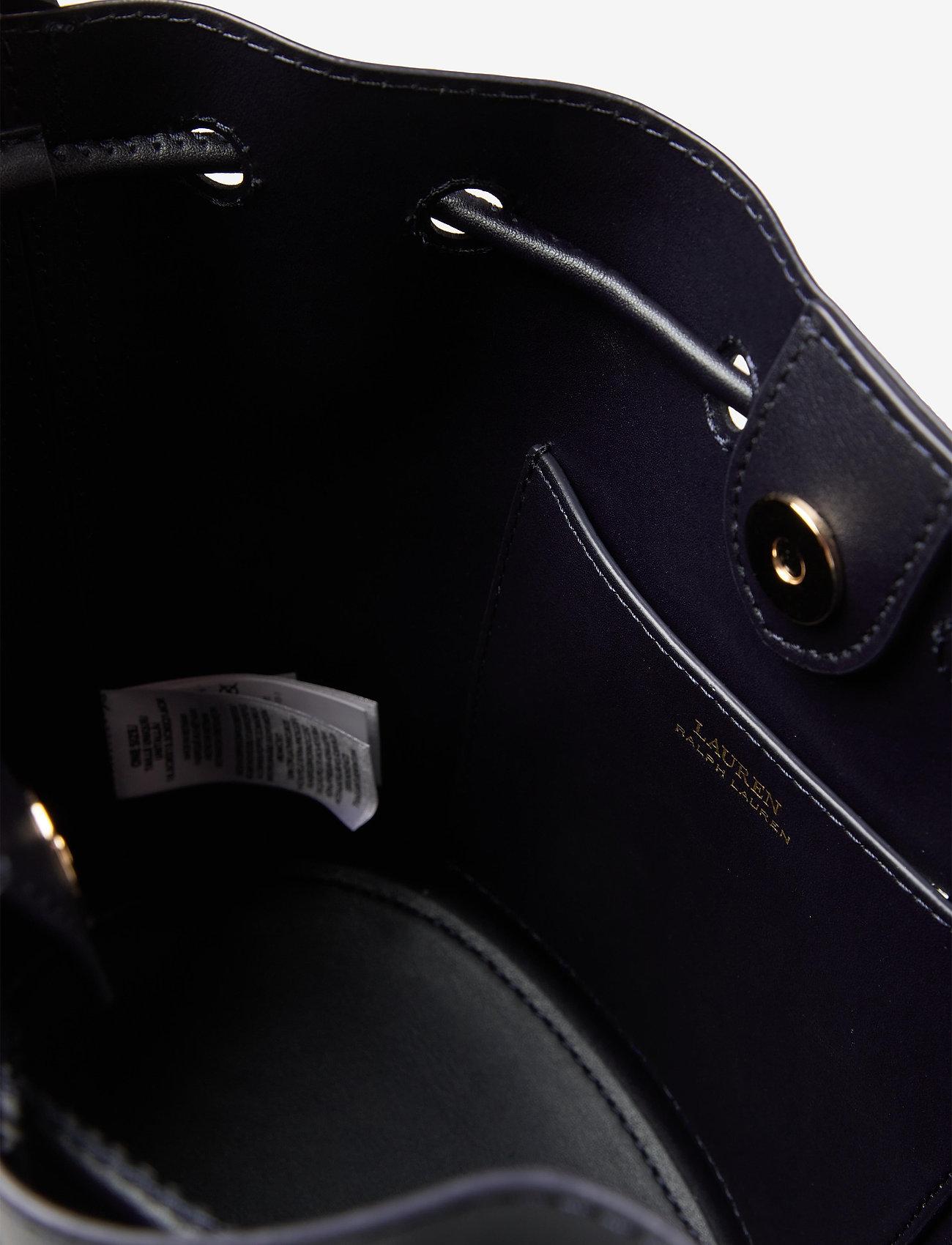 Lauren Ralph Lauren - Leather Medium Andie Drawstring Bag - bucketväskor - lauren navy - 4