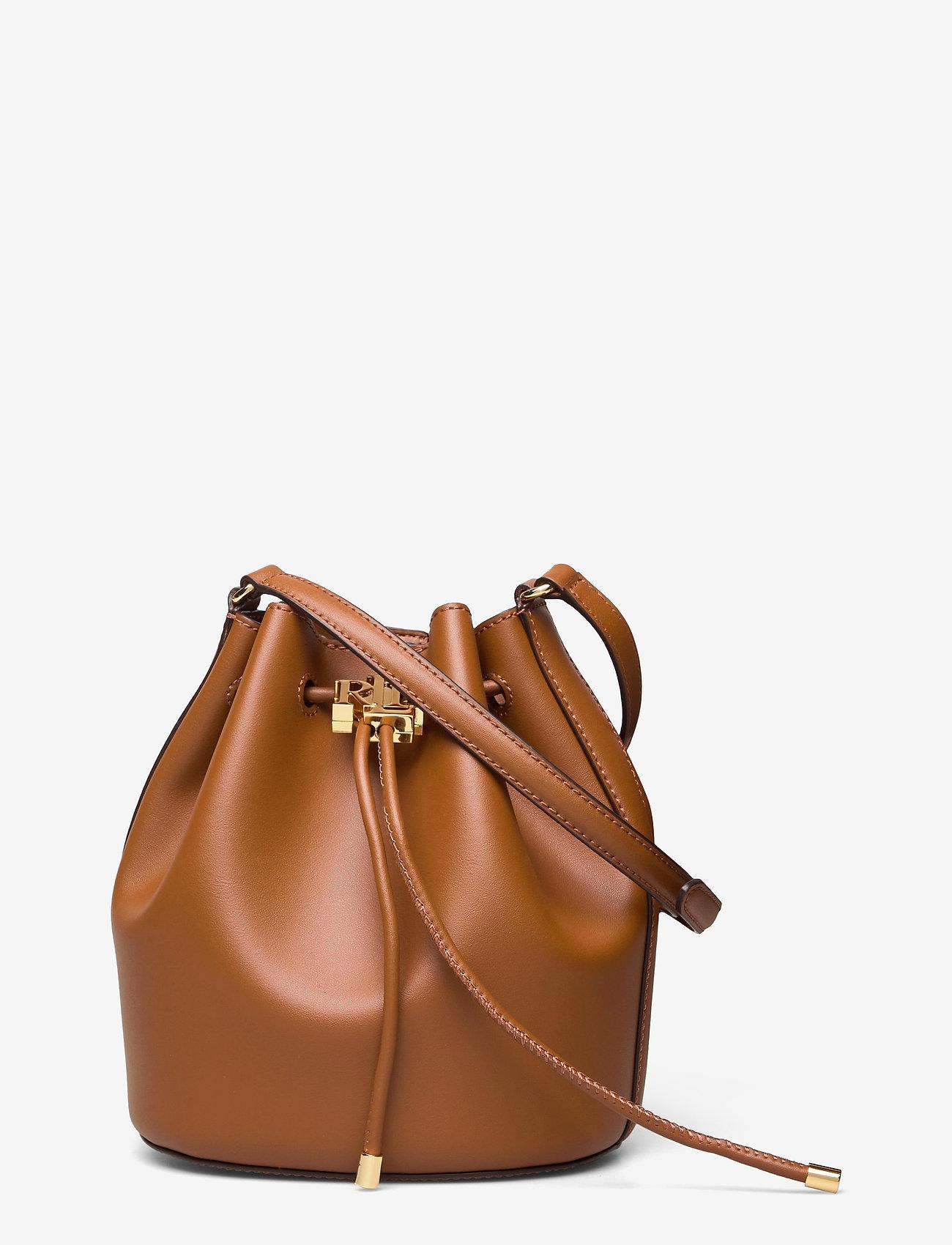 Lauren Ralph Lauren - Leather Medium Andie Drawstring Bag - bucketväskor - lauren tan - 0
