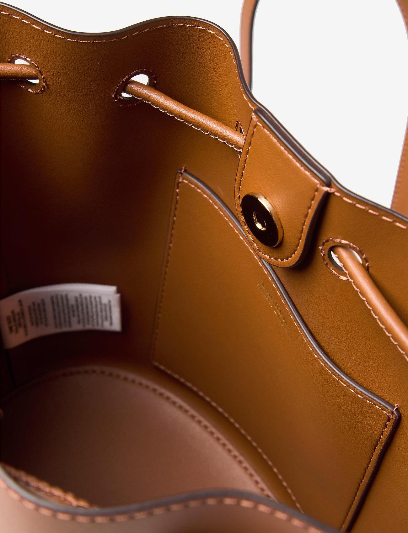 Lauren Ralph Lauren - Leather Medium Andie Drawstring Bag - bucketväskor - lauren tan - 4