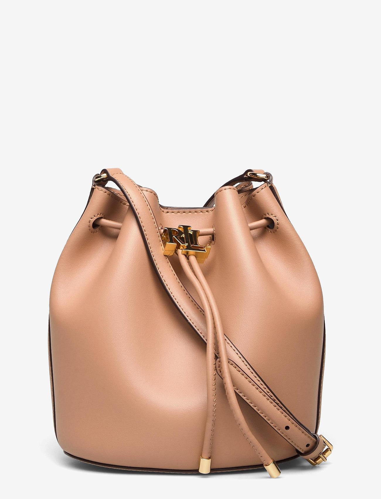 Lauren Ralph Lauren - Leather Medium Andie Drawstring Bag - bucketväskor - nude - 0