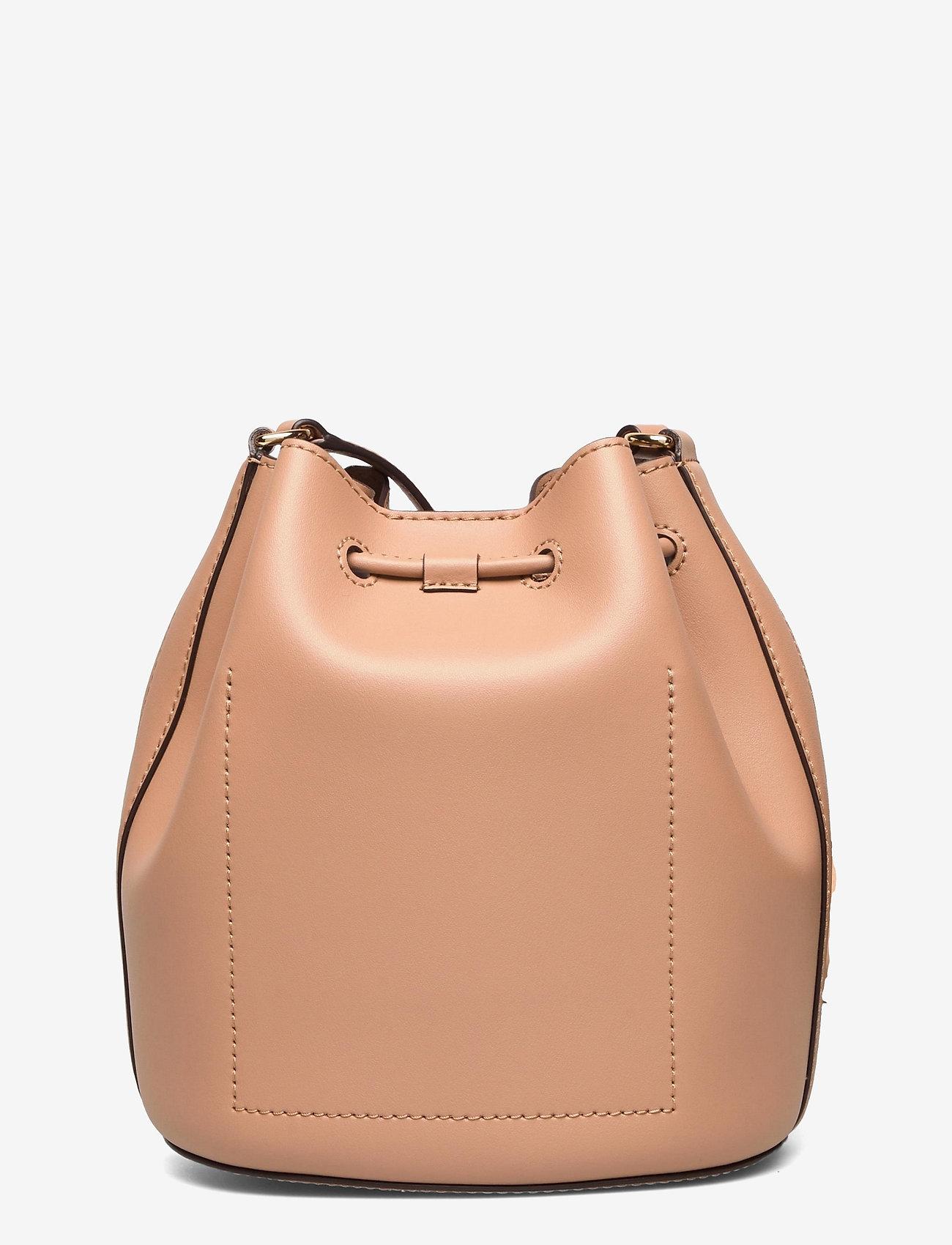 Lauren Ralph Lauren - Leather Medium Andie Drawstring Bag - bucketväskor - nude - 1