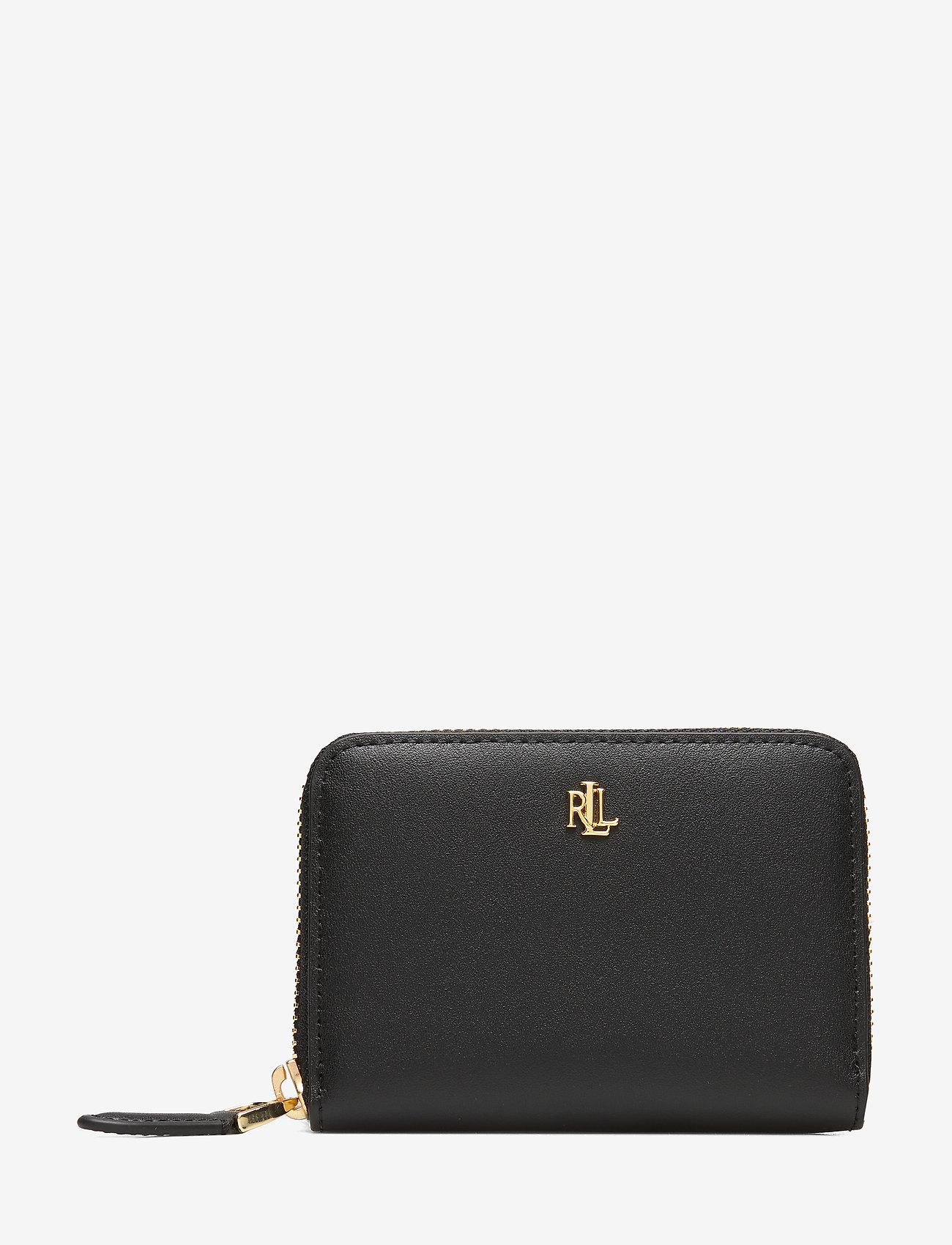 Lauren Ralph Lauren - Leather Zip Wallet - beurzen - black/crimson - 0