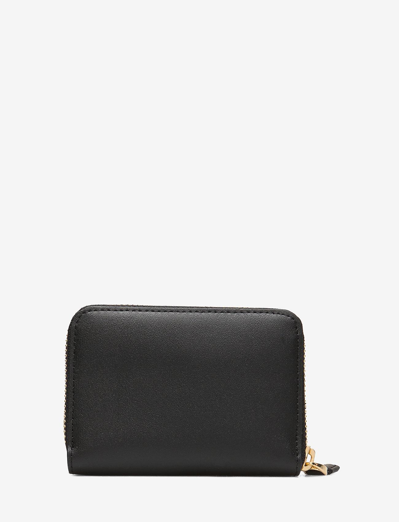 Lauren Ralph Lauren - Leather Zip Wallet - beurzen - black/crimson - 1
