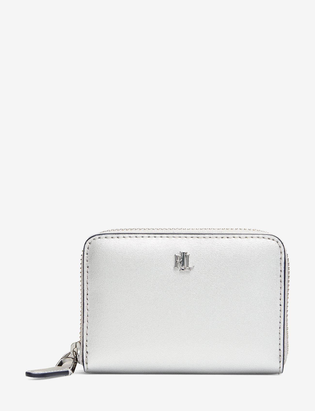Lauren Ralph Lauren - Leather Zip Wallet - beurzen - bright silver/lau - 0
